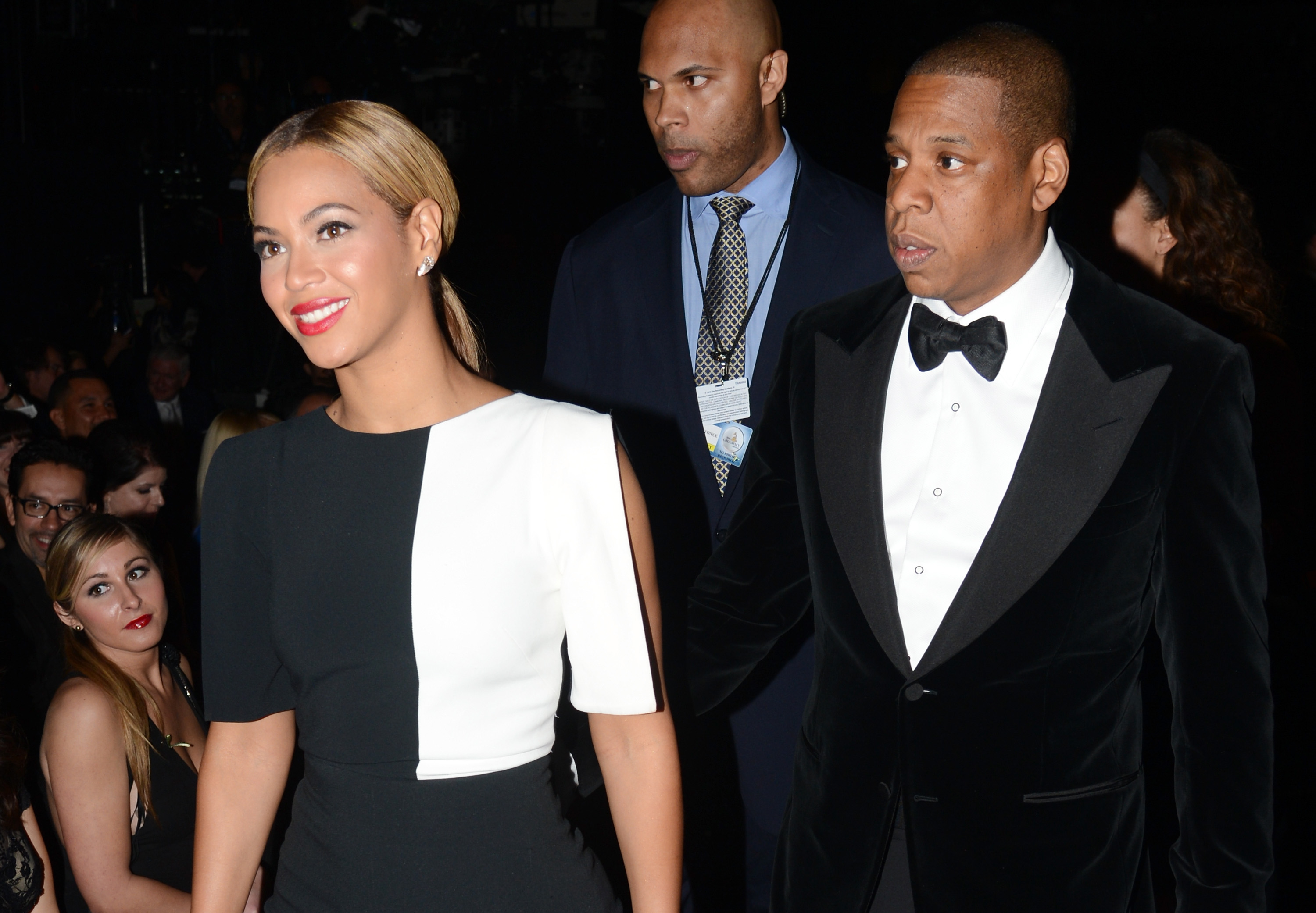 Beyonce and Jay-Z attend the 55th Annual GRAMMY Awards at [f500link]Staples[/f500link] Center on February 10, 2013 in Los Angeles, California. (Photo by Jeff Kravitz/FilmMagic)