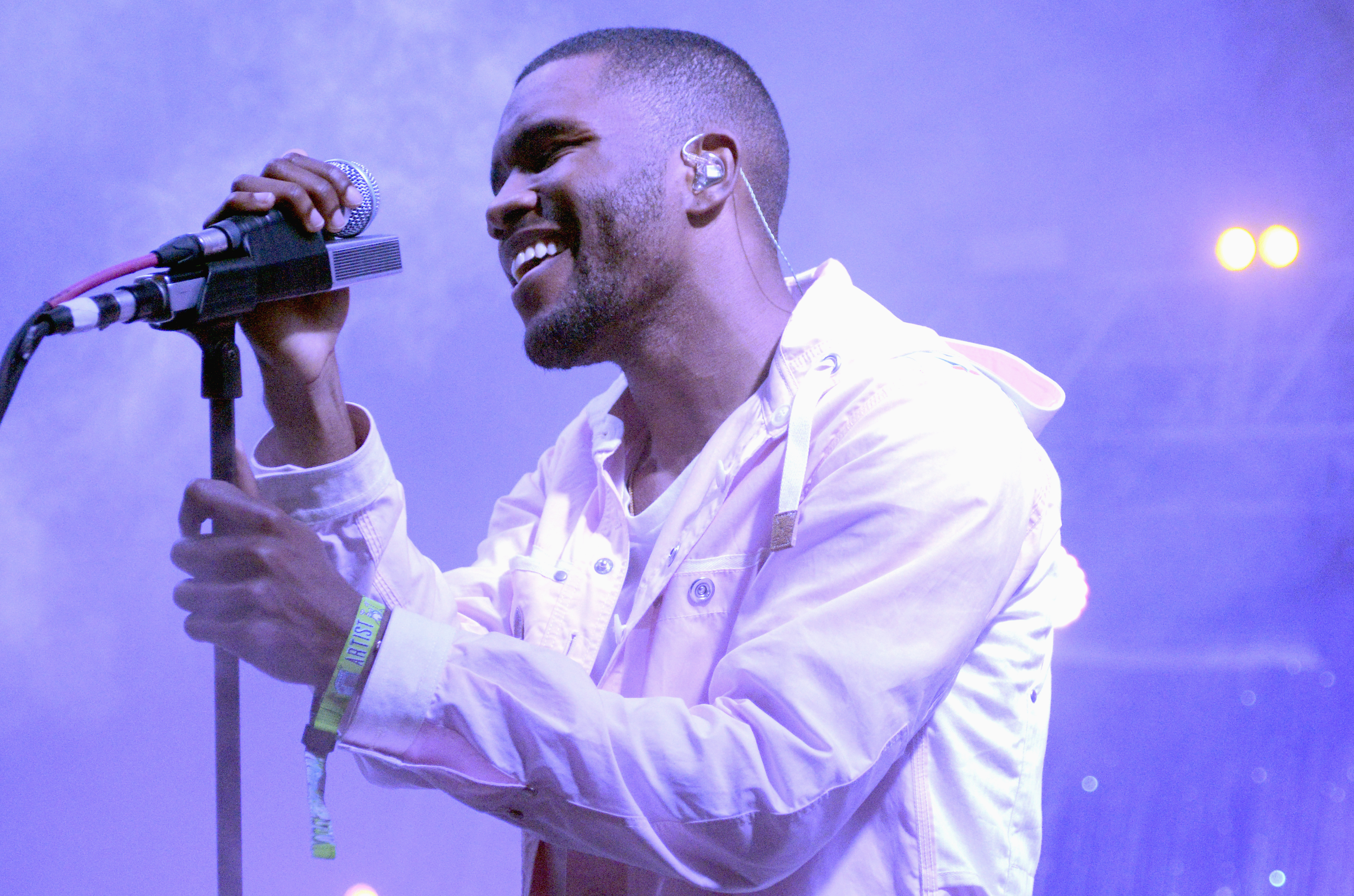 Frank Ocean during the performs during the 2014 Bonnaroo Music & Arts Festival in Manchester, Tennessee, on June 14, 2014.