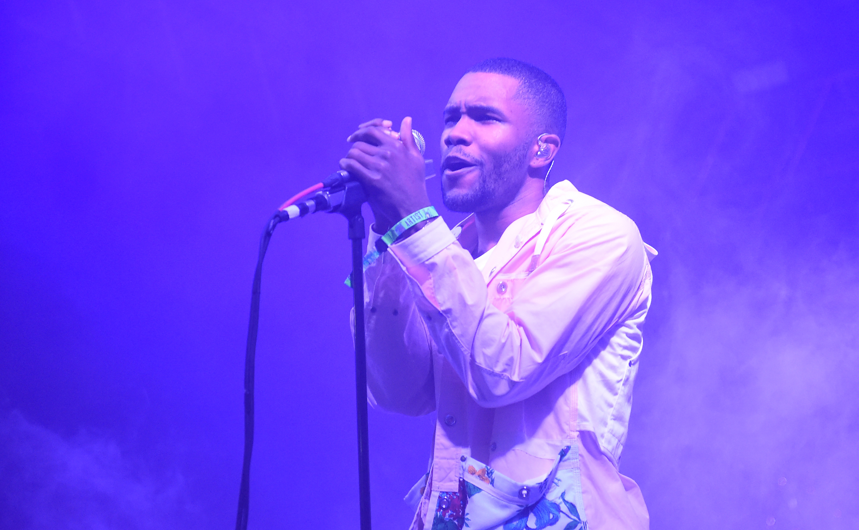 Artist Frank Ocean performs during the 2014 Bonnaroo Music Arts Festival in Manchester, Tennessee on June 14, 2014