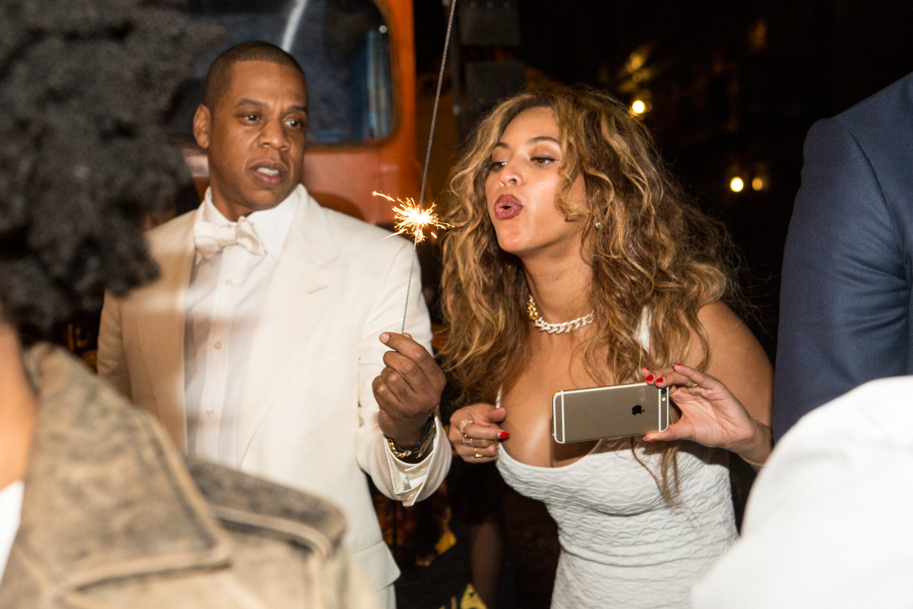 Jay Z and Beyonce Knowles on November 16, 2014 in New Orleans, Louisiana. (Photo by Josh Brasted/WireImage)