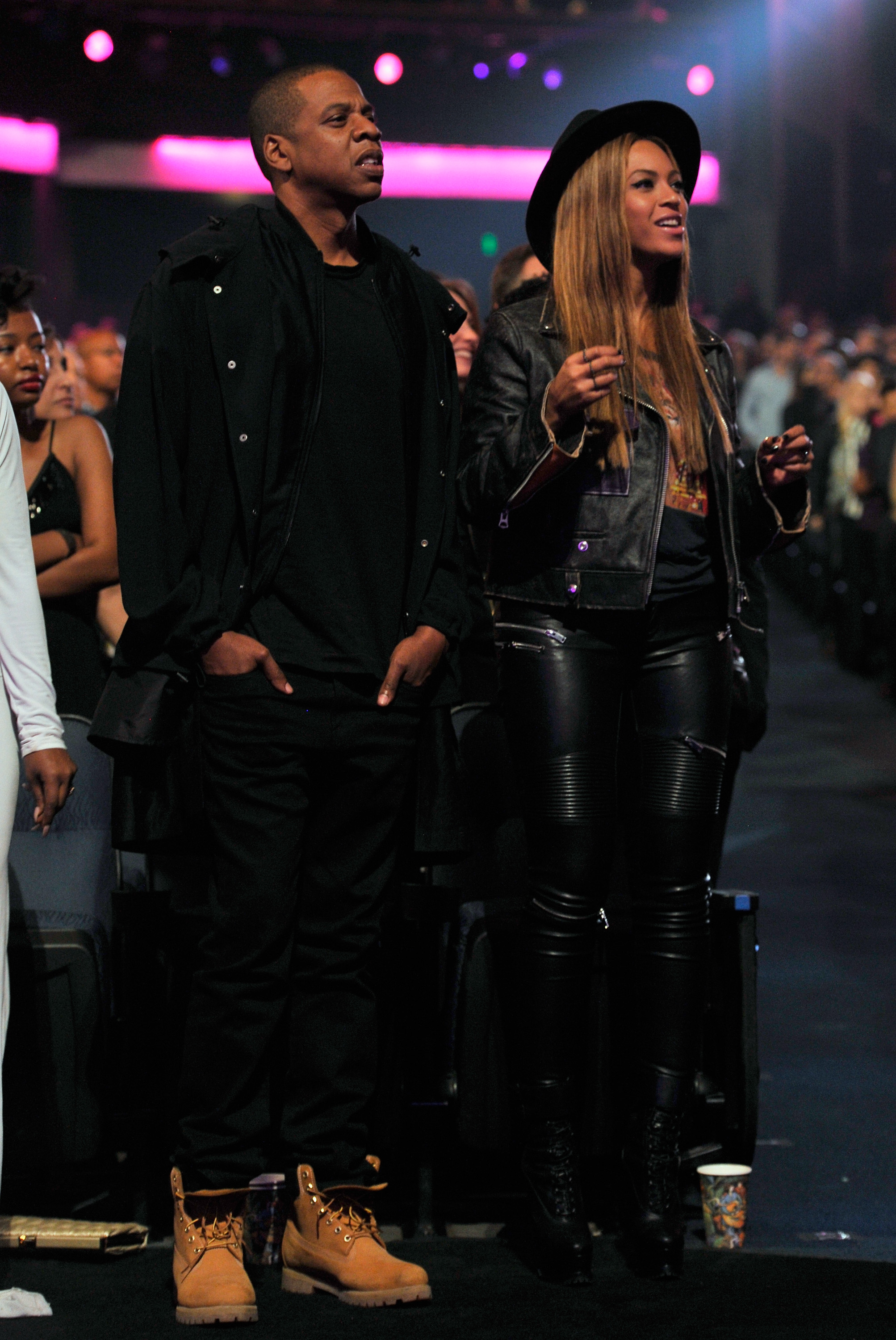 Jay-Z and Beyonce attend a Stevie Wonder: tribute at on February 10, 2015 in Los Angeles, California. (Photo by Lester Cohen/WireImage)