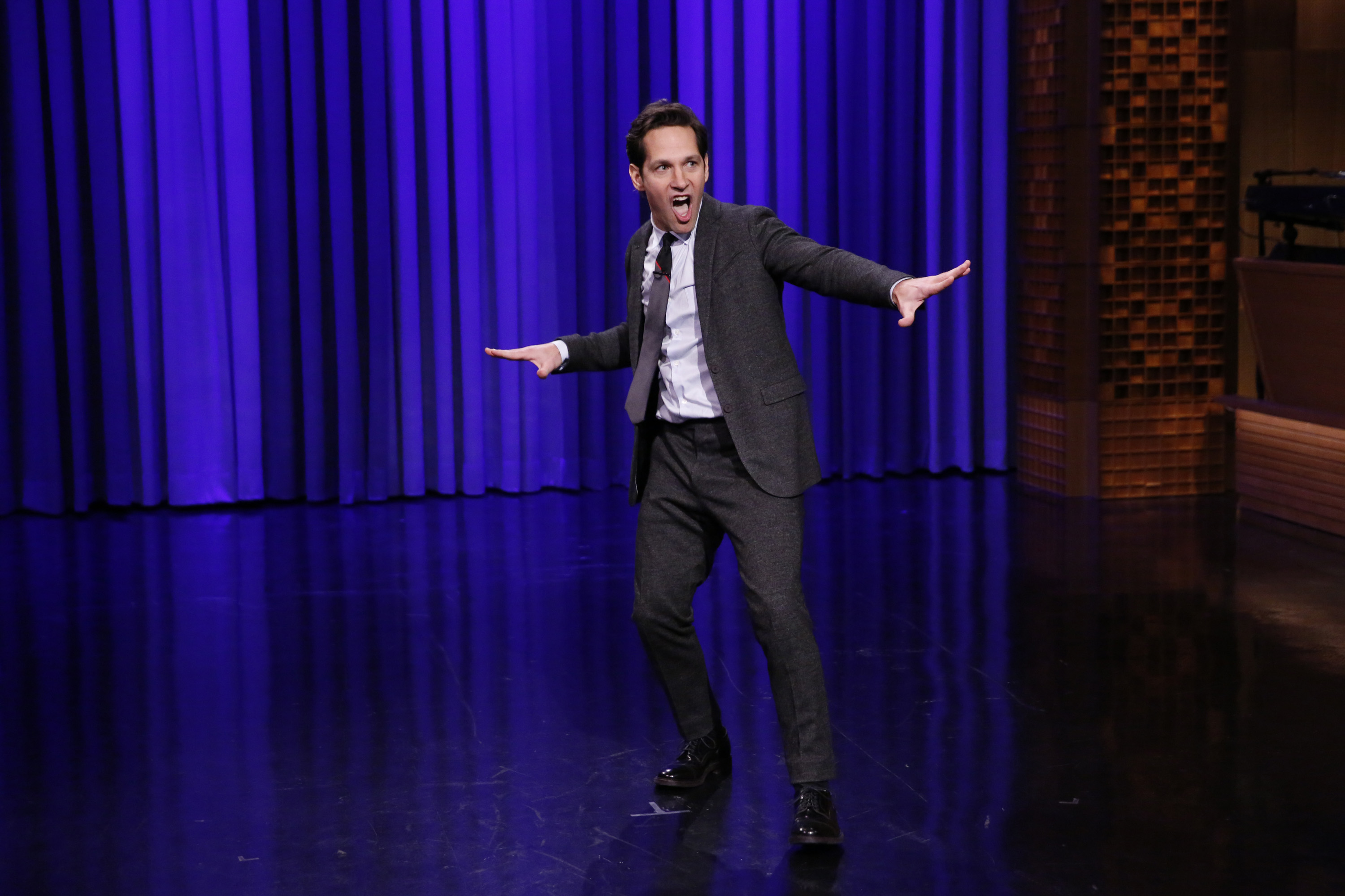 Actor Paul Rudd and Jimmy Fallon have a Lip Sync Battle