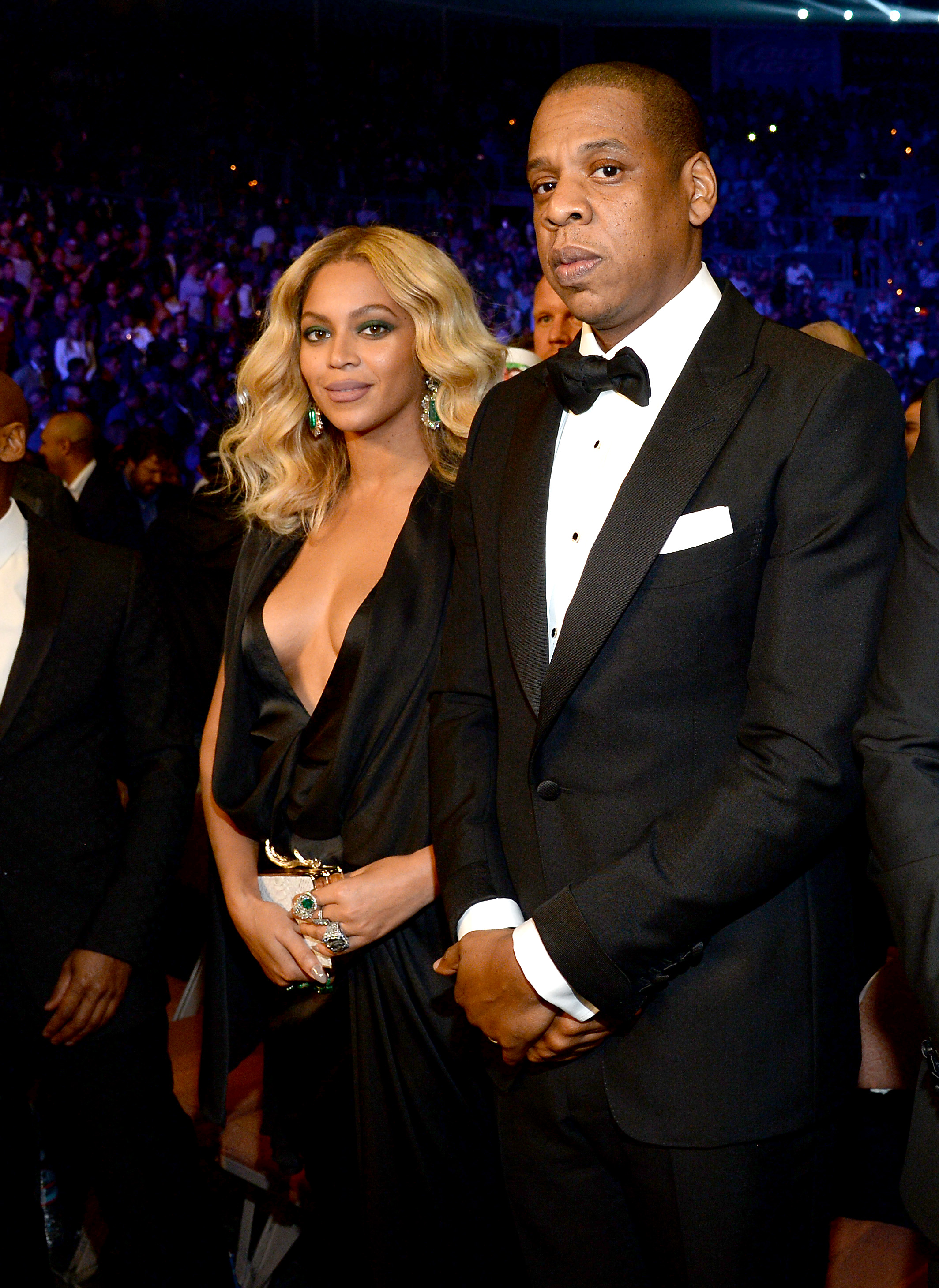 Beyonce Knowles and Jay-Z attend Miguel Cotto vs. Canelo Alvarez at the Mandalay Bay Events Center on November 21, 2015 in Las Vegas, Nevada. (Photo by Kevin Mazur/Getty Images for Roc Nation Sports)