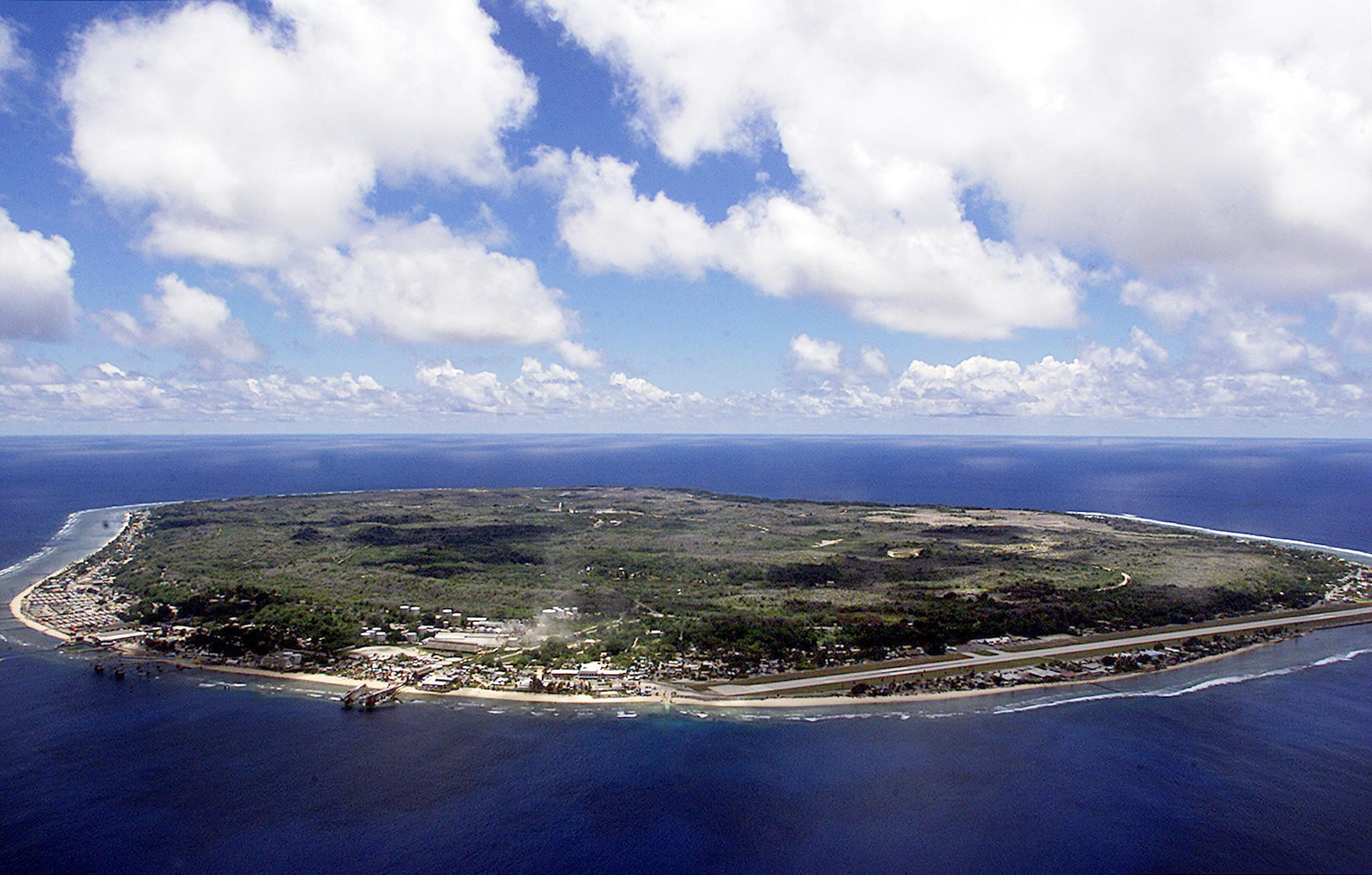 The barren and bankrupt island state of the Republic of Nauru on Sept. 11, 2001