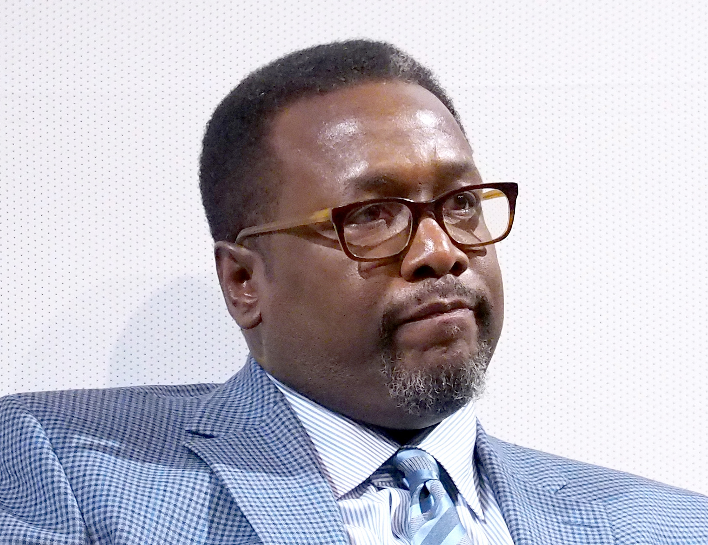 Actor Wendell Pierce speaks onstage at the NYC Special Screening of HBO Film  Confirmation   at Signature Theater on April 7, 2016 in New York City.
