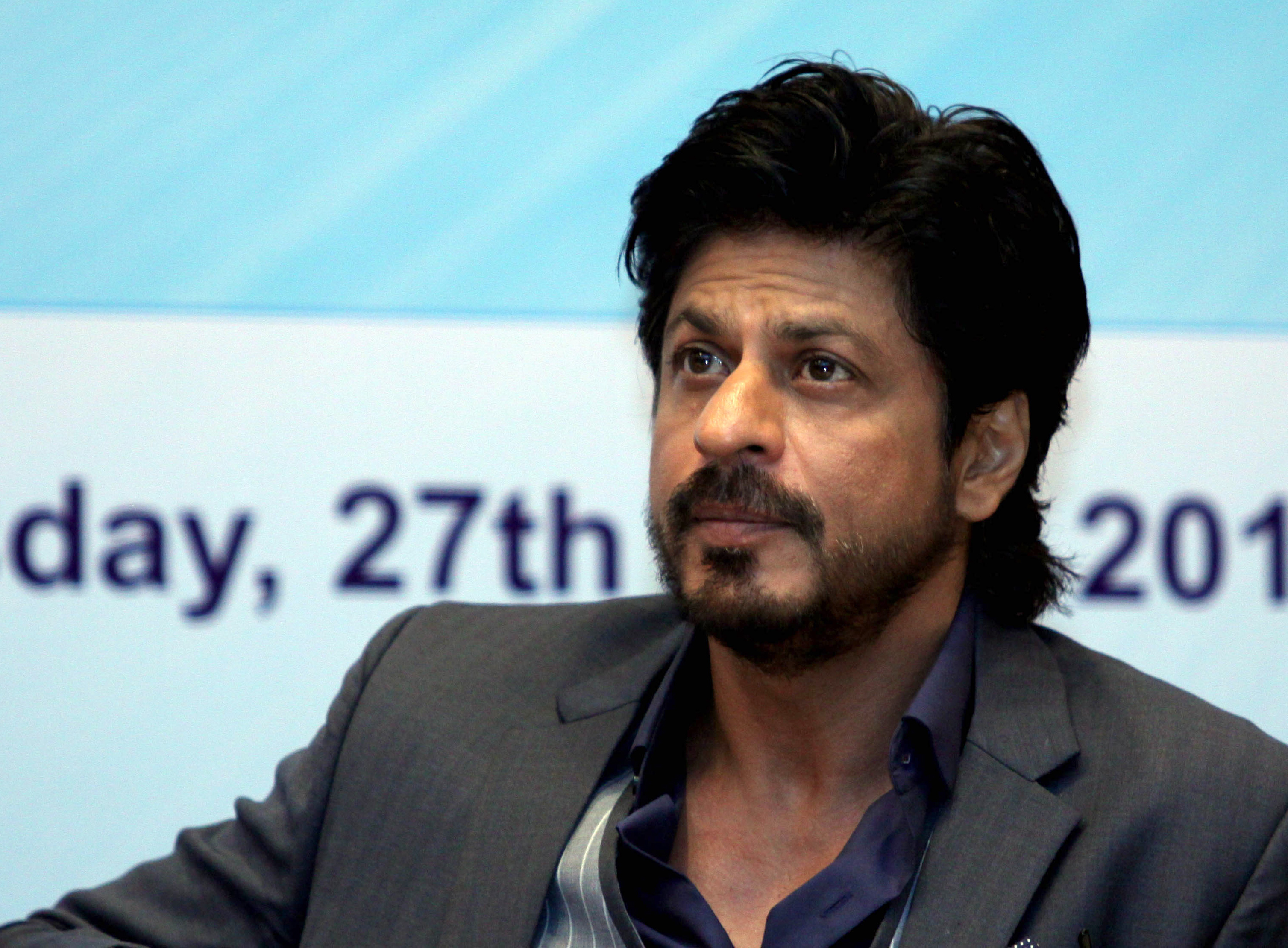 Bollywood actor Shah Rukh Khan poses during the launch of the book Movers and Makers in the Indian city of Mumbai on April 27, 2016