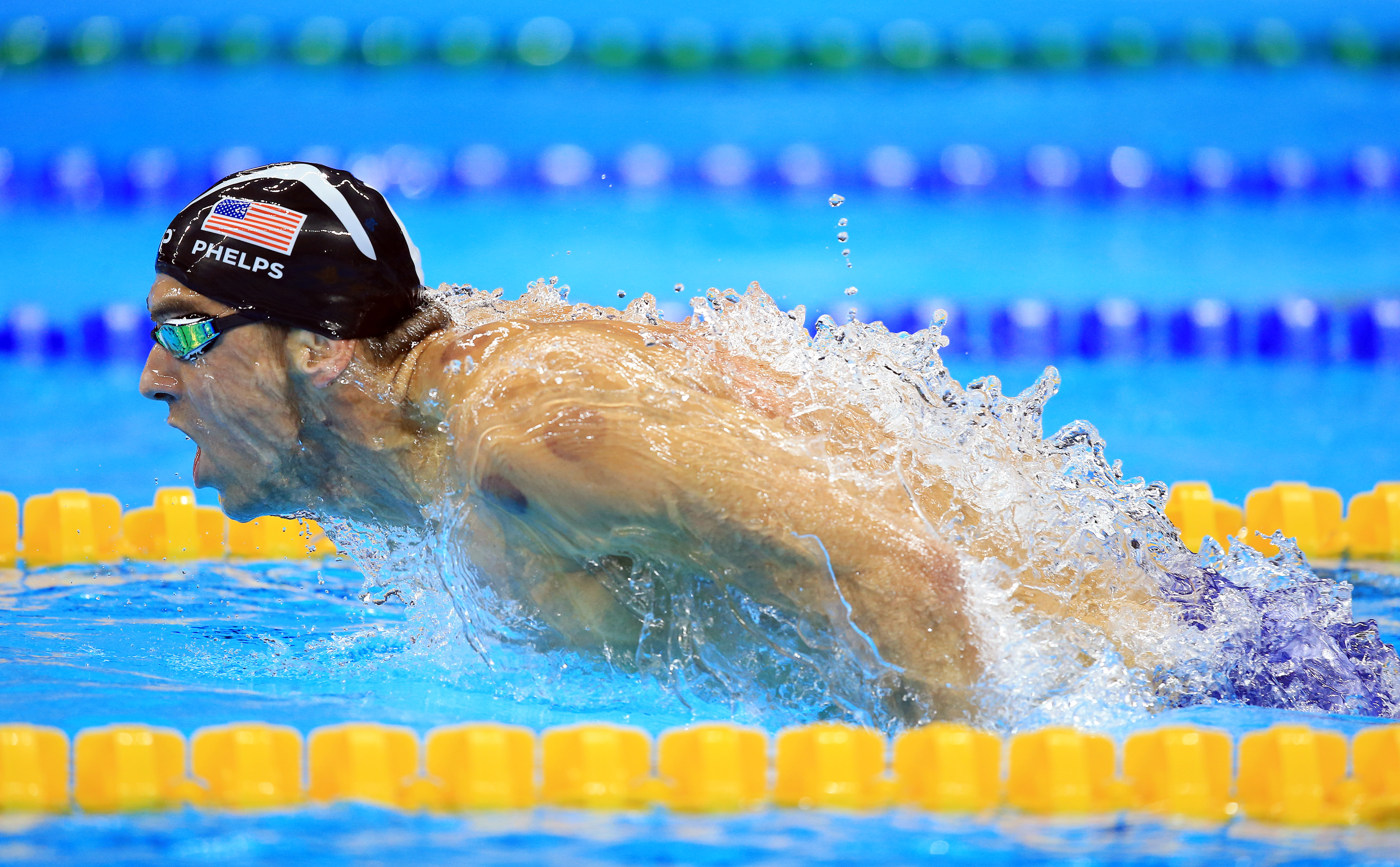 Michael Phelps of the USA wins Gold in the Men's 200m Butterfly Final on Day 4 of the Rio 2016 Olympic Games at the Olympic Aquatics Stadium on August 9, 2016 in Rio de Janerio, Brazil.