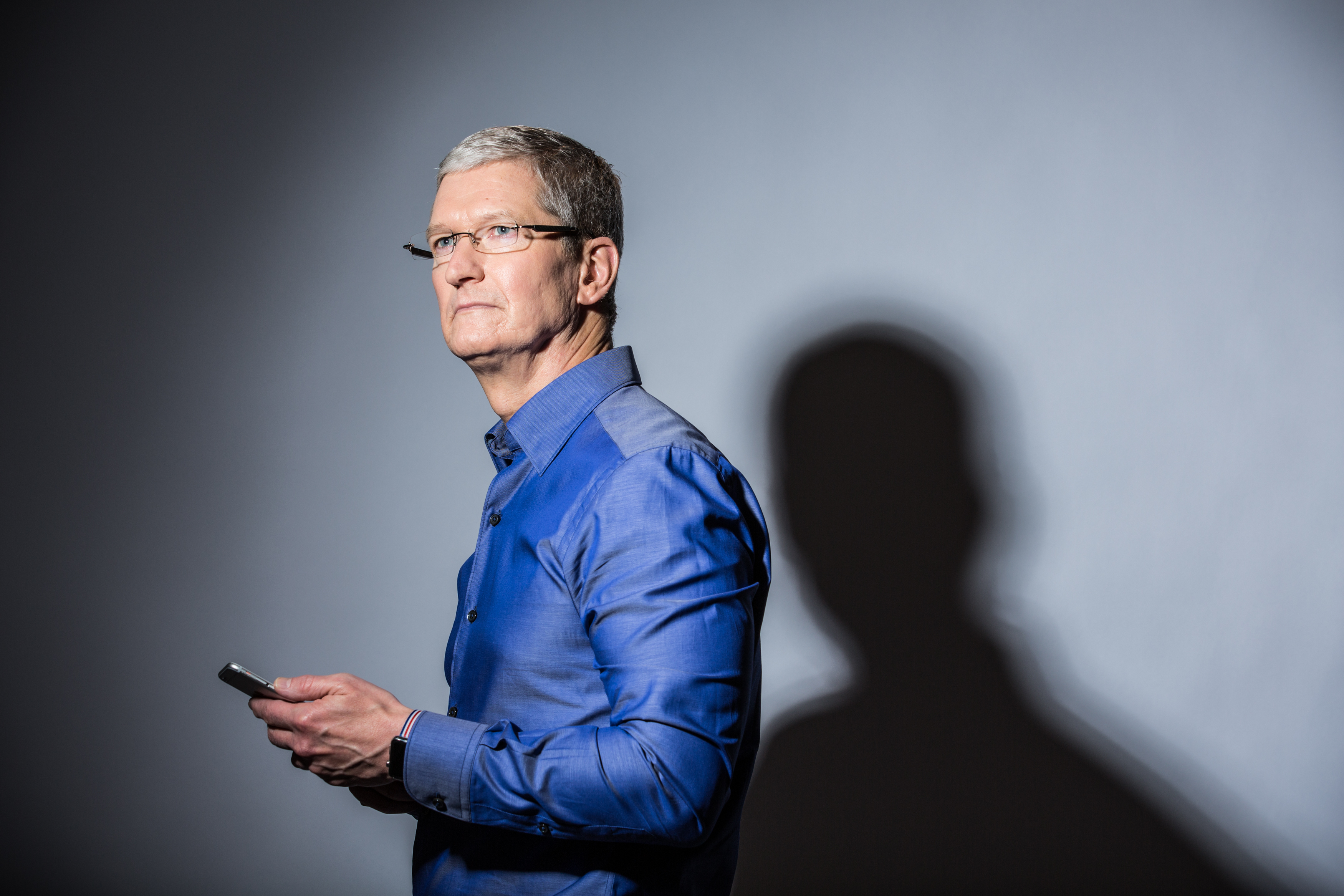 Apple CEO Tim Cook poses for a portrait at Apple's global headquarters in Cupertino, California on July 28, 2016.