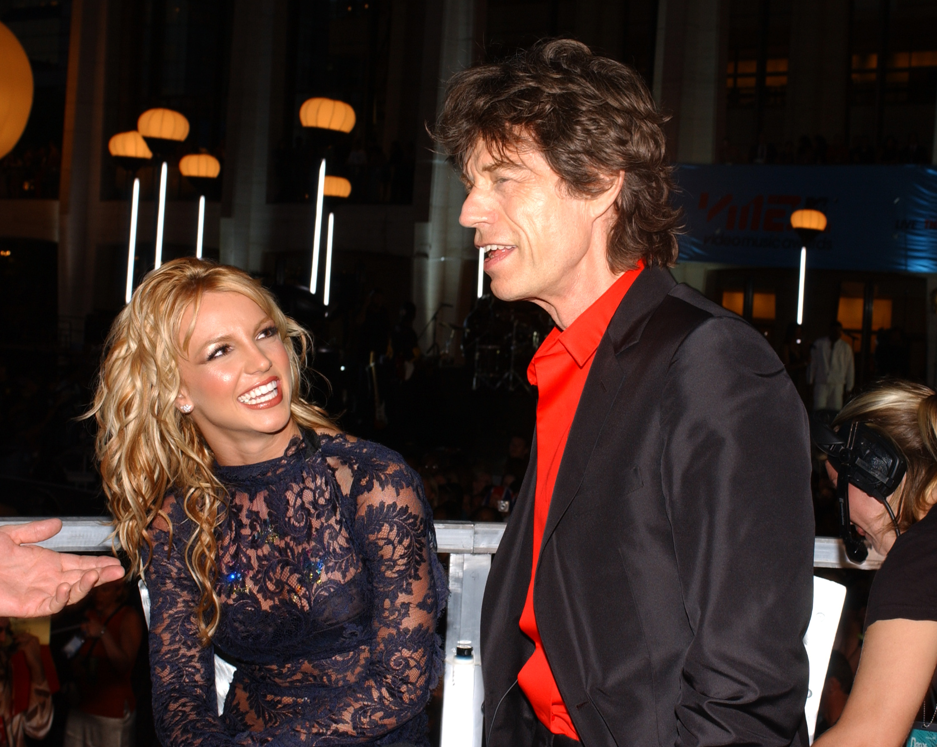 Britney Spears and Mick Jagger (Photo by KMazur/WireImage)