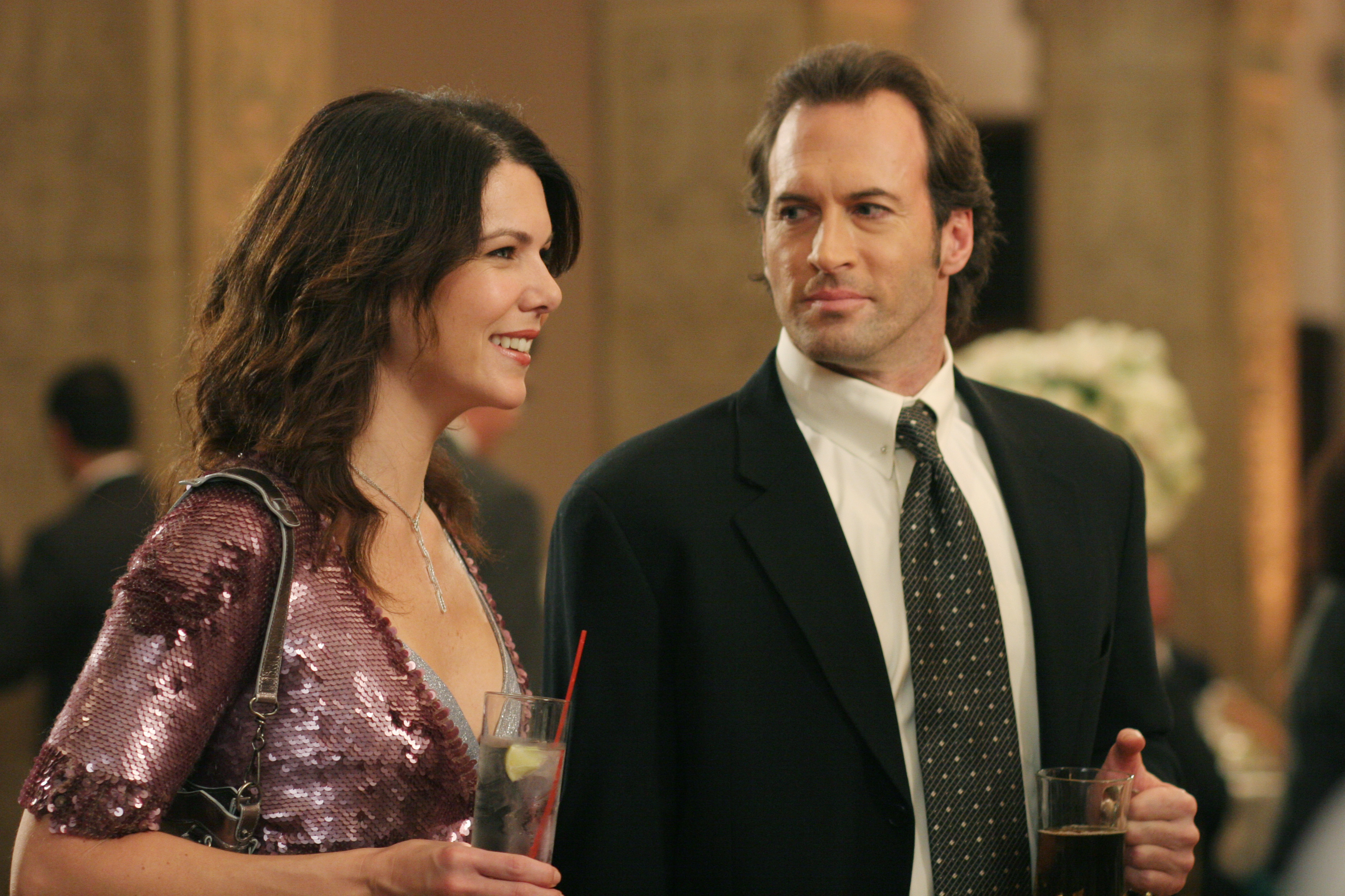 Scott Patterson, right, as Luke Danes in Gilmore GIrls, 2000-2007