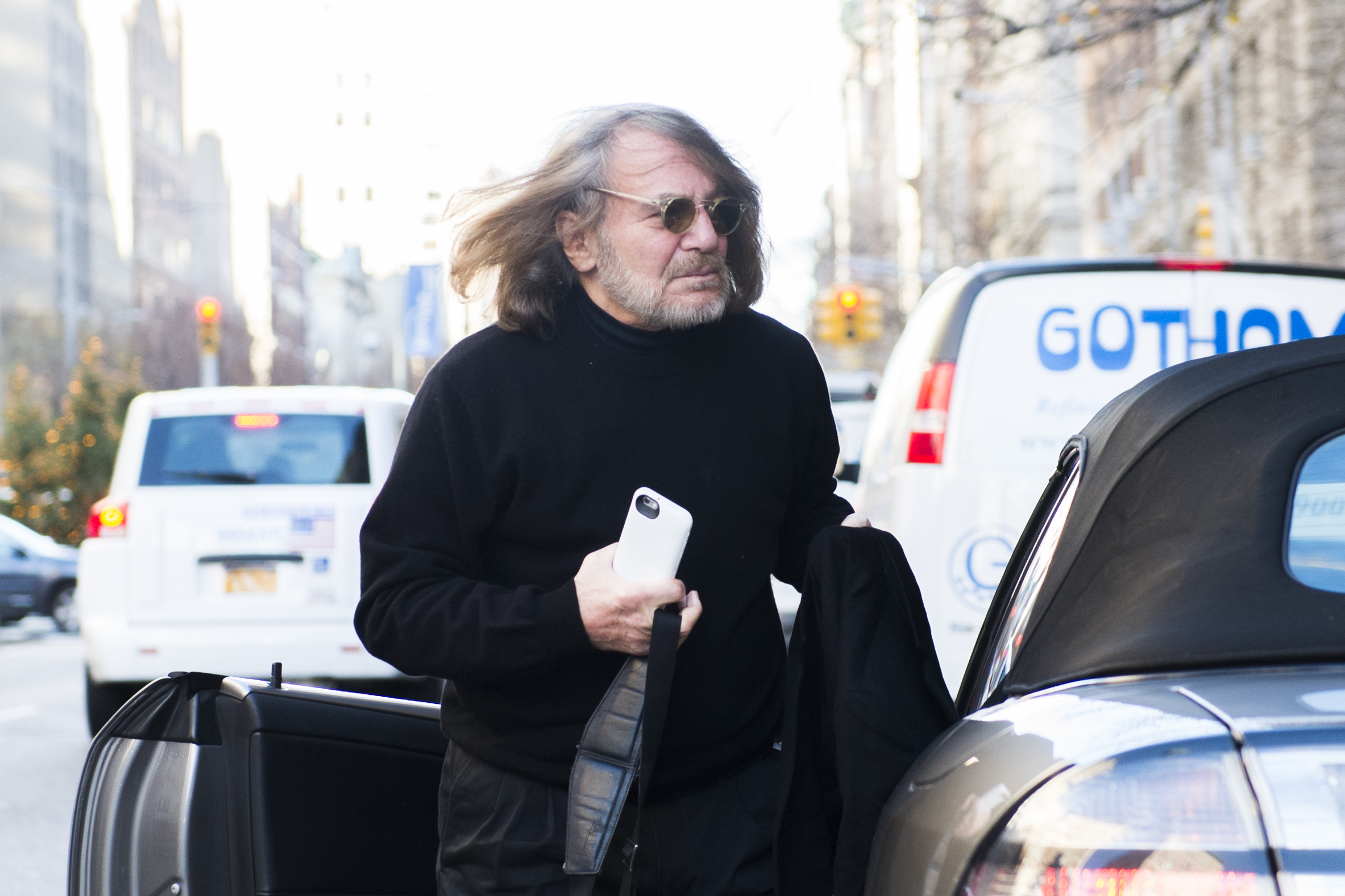 Dr. Harold Bornstein,  personal physician to Donald Trump arrives at his office at 101 East 78th street on Dec. 15, 2015.