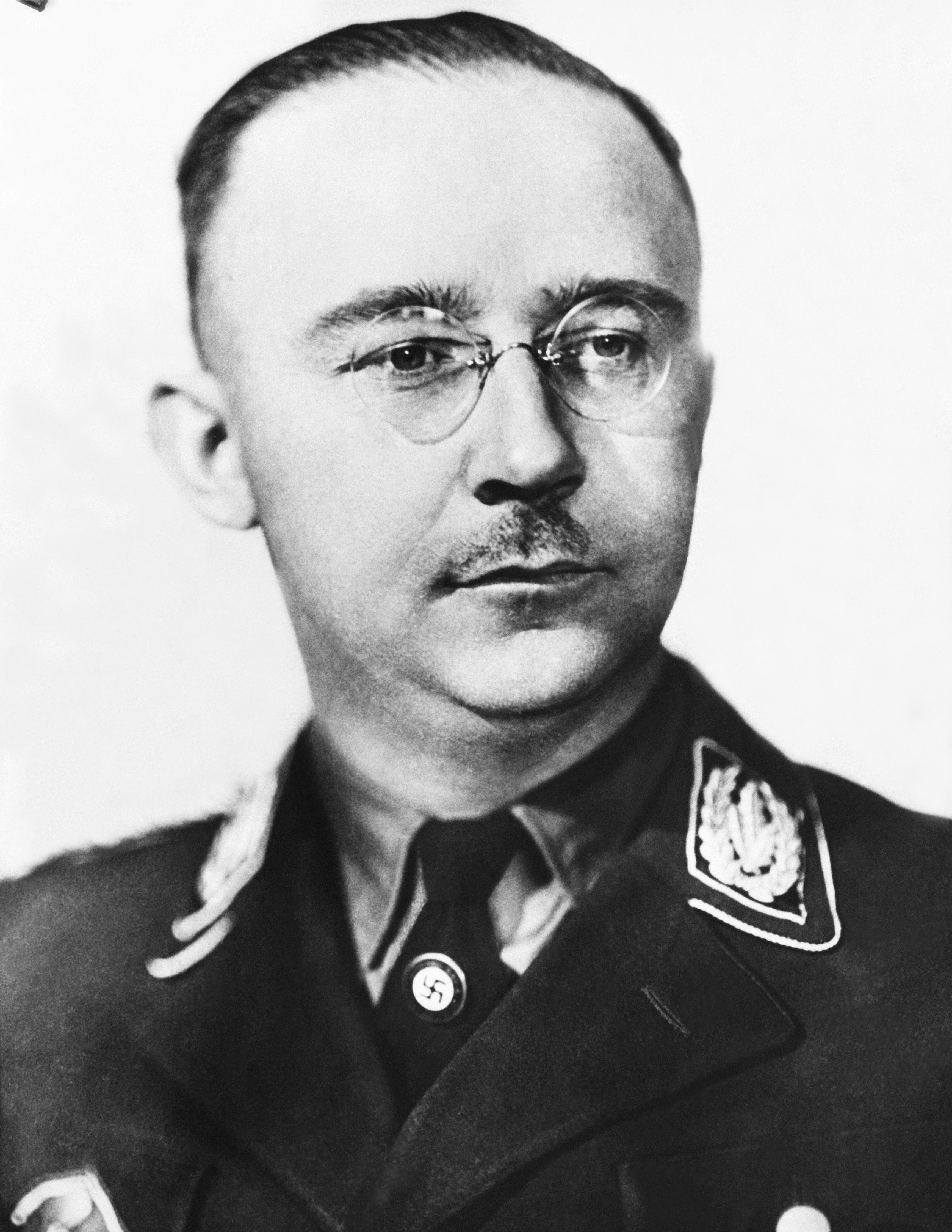 Henrich Himmler poses in Germany in 1945.