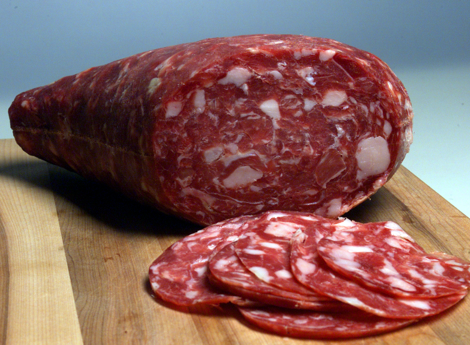 stuff.salami Citterio Italian Style Salame with Prosciutto  (Photo by Annie Wells/Los Angeles Times via Getty Images)