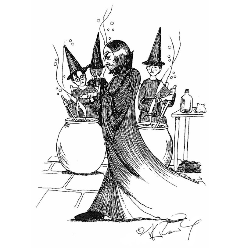 Snape drawing by J.K. Rowling