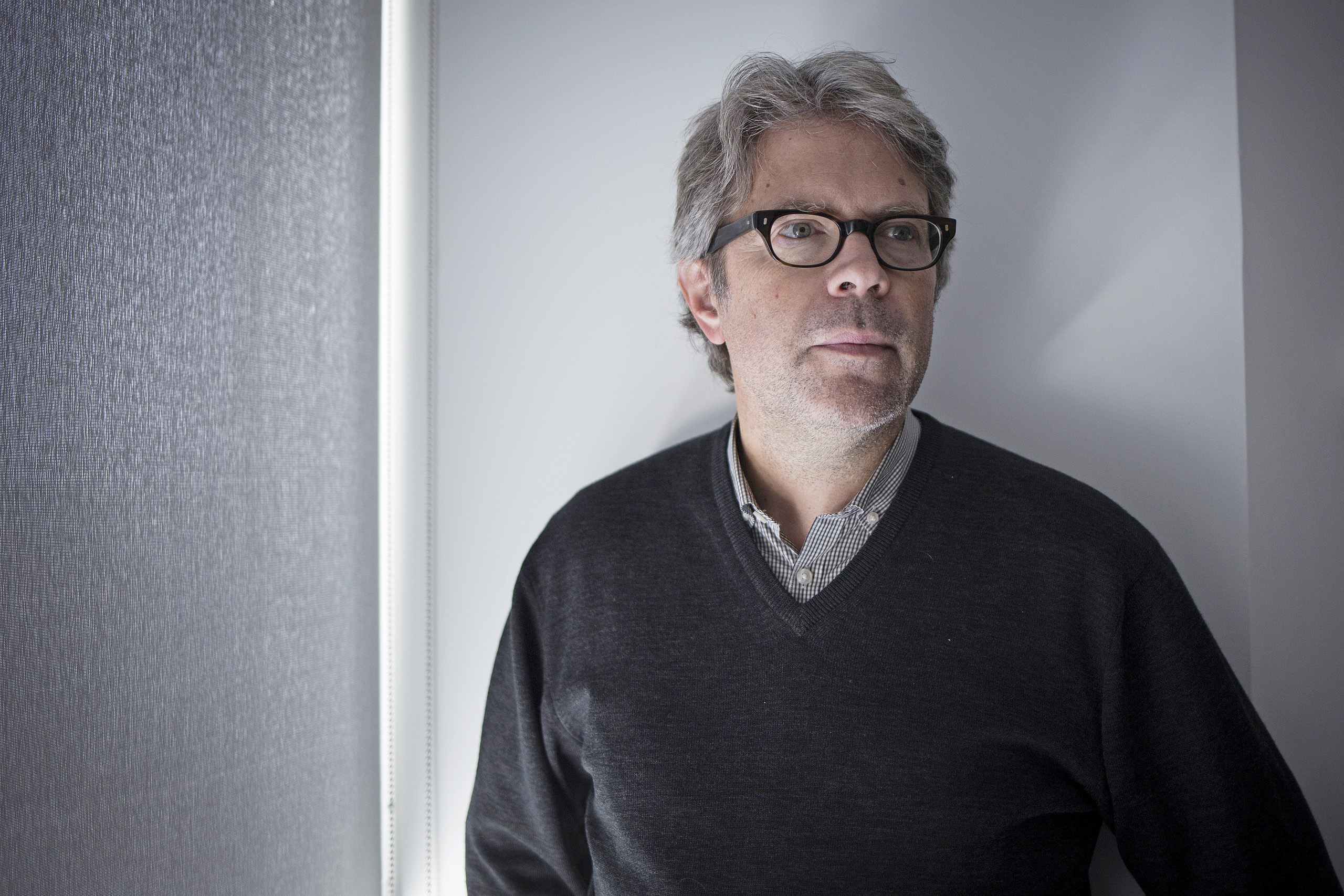 American novelist, Jonathan Franzen, discusses his latest book, Purity in Toronto on Oct. 11, 2015.
