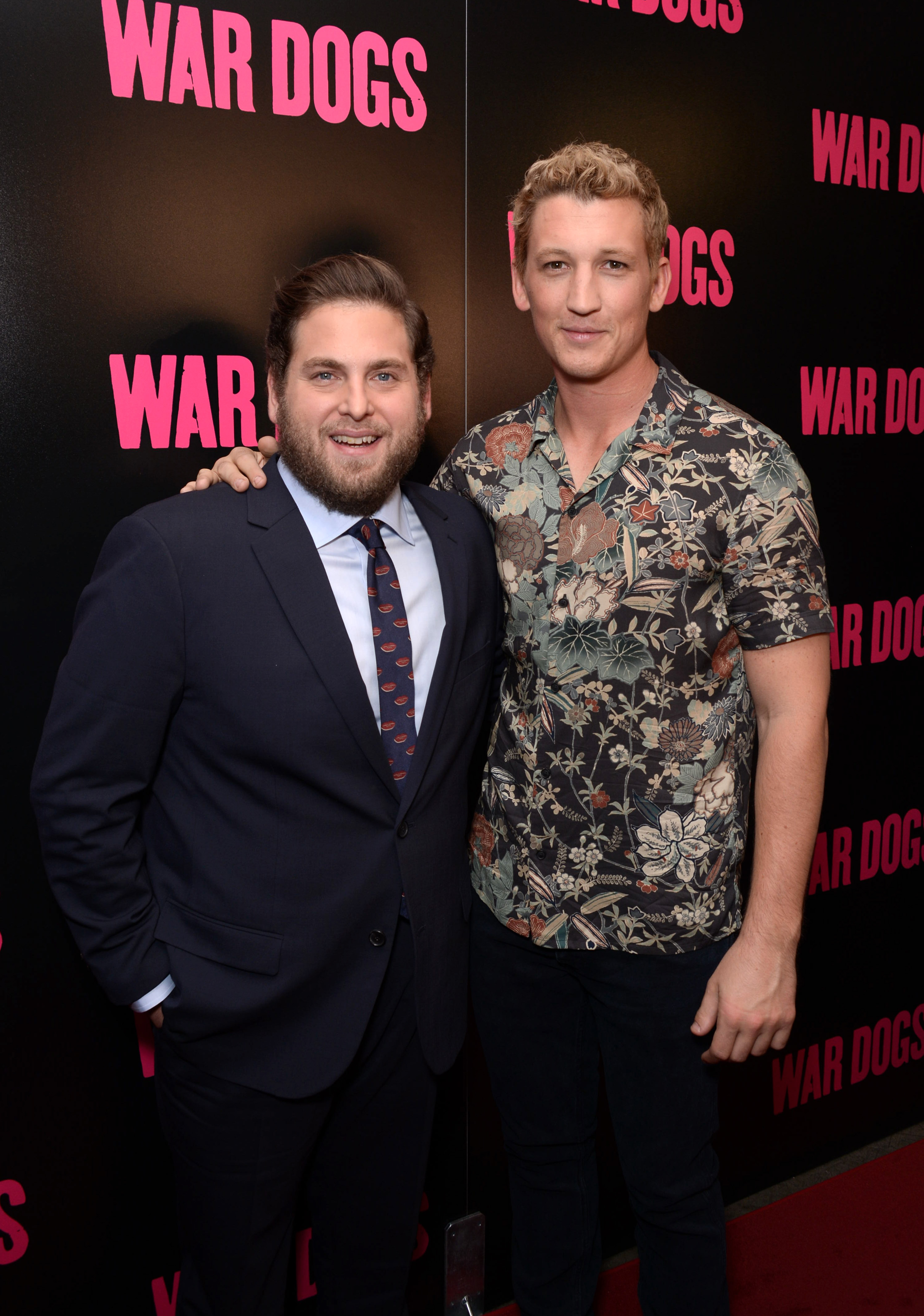 Jonah Hill and Miles Teller attend the  War Dogs  New York premiere on August 3, 2016.