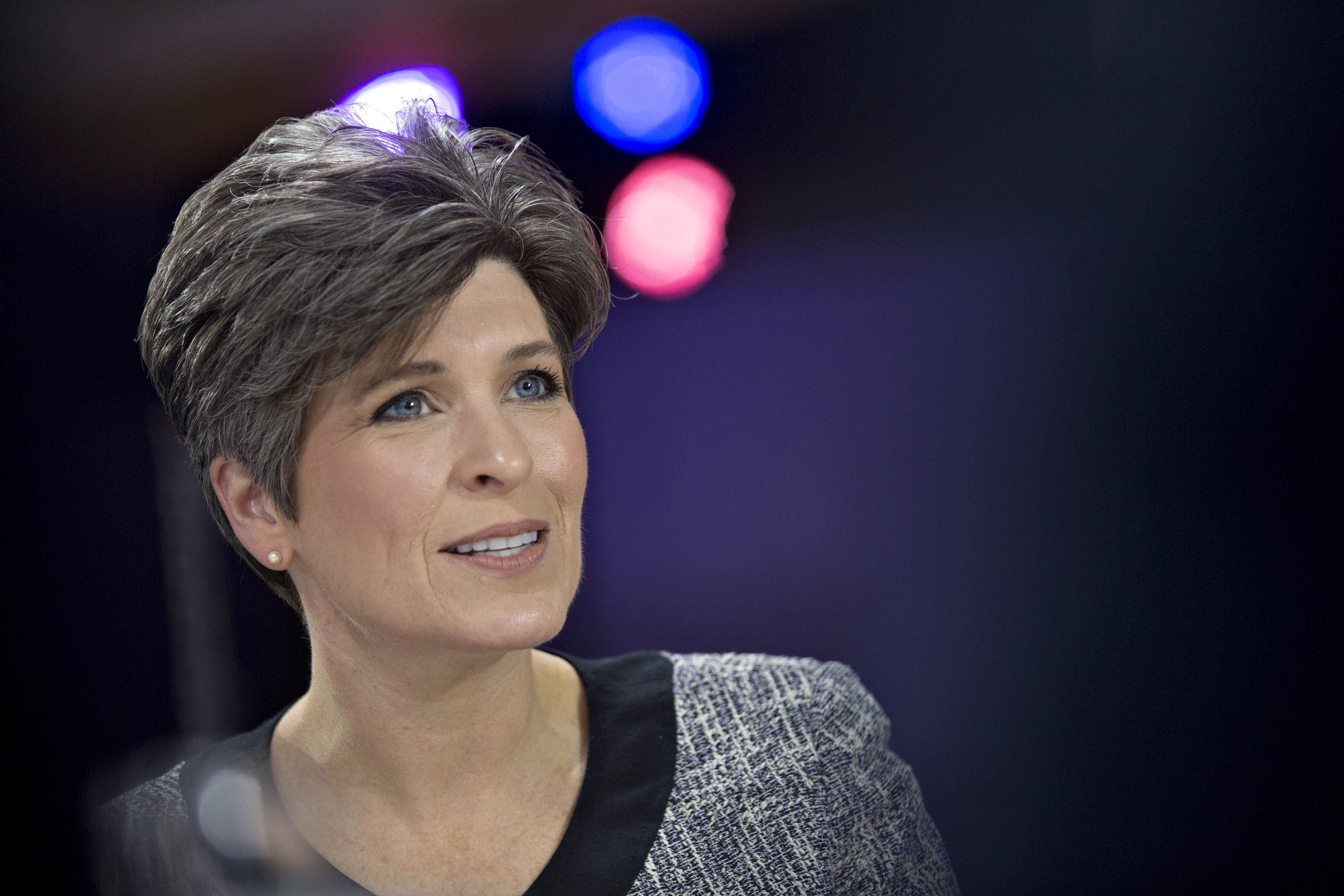 Senator Joni Ernst, a Republican from Iowa, speaks during a Bloomberg Politics interview in Des Moines, Iowa, on Feb. 1, 2016.