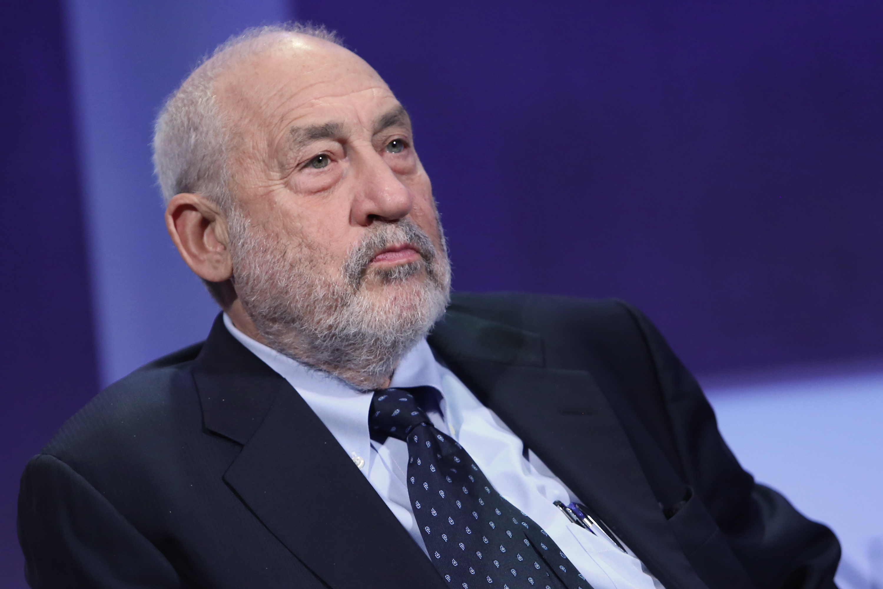 Joseph Stiglitz speaks at the Clinton Global Initiative Annual Meeting in New York City on Sept. 28, 2015.