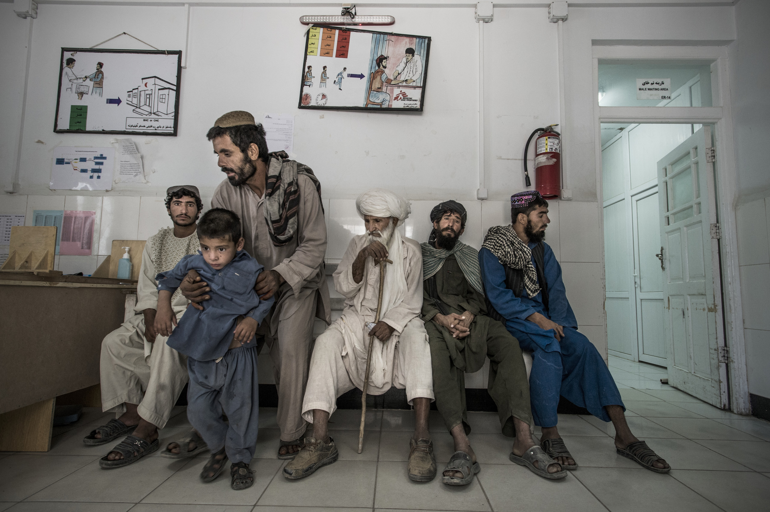 The emergency room in Boost hospital run by Doctors Without Borders in Lashkar Gah, Helmand,  Afghanistan,  June 2016. It is one of the biggest hospitals they run in the world with 300 beds, 700 staff, and 25 international staff.