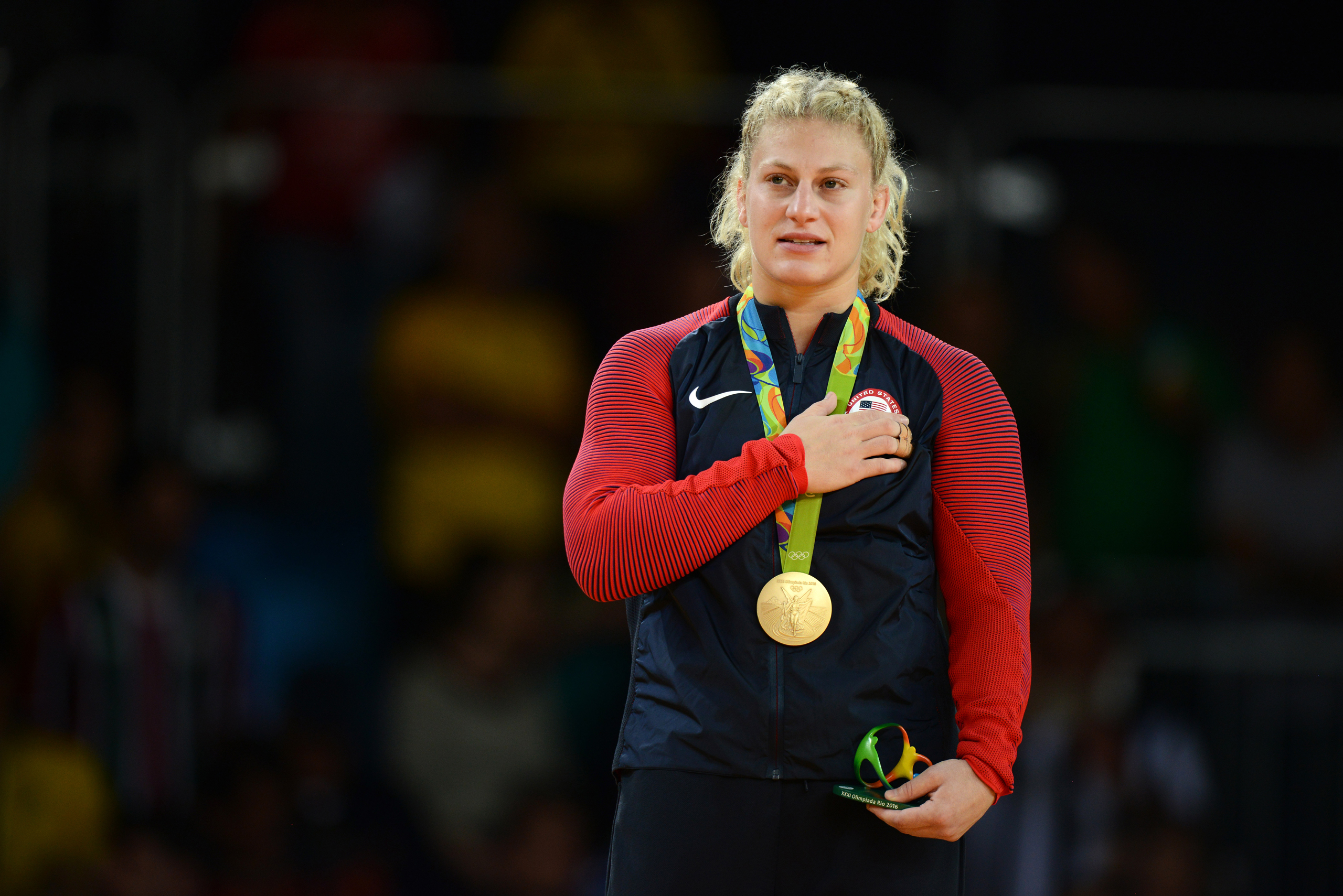 Gold medal Kayla Harrison at the Judo women's -78kgs held at Carioca Arena 2 during Day 6 of the 2016 Rio on August 11, 2016.
