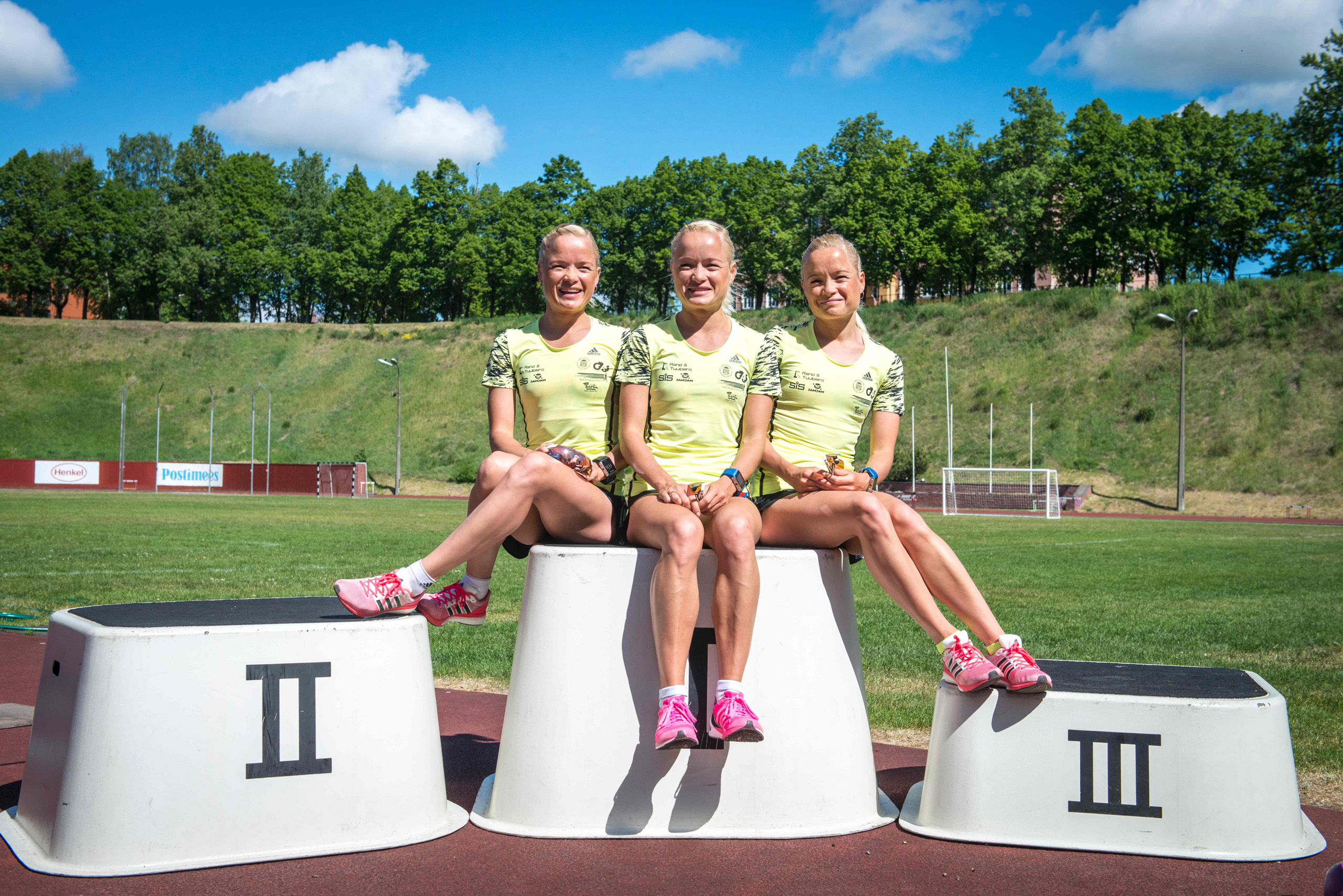 The 30-year-old identical triplets, Leila, Liina and Lily Luik, are creating history by competing in this year's Rio Olympics