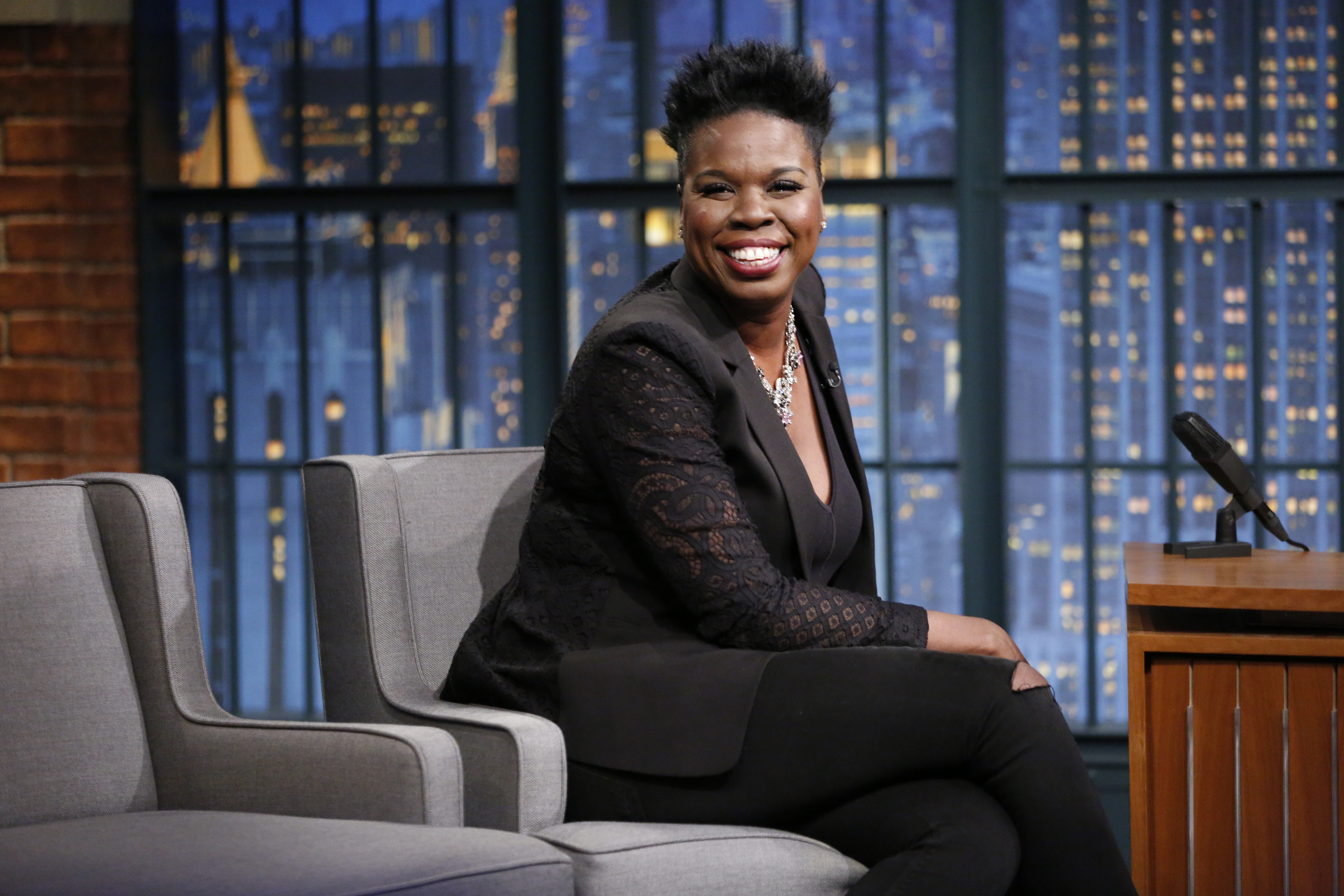 Actress Leslie Jones on Late Night with Seth Meyers, on July 21, 2016.