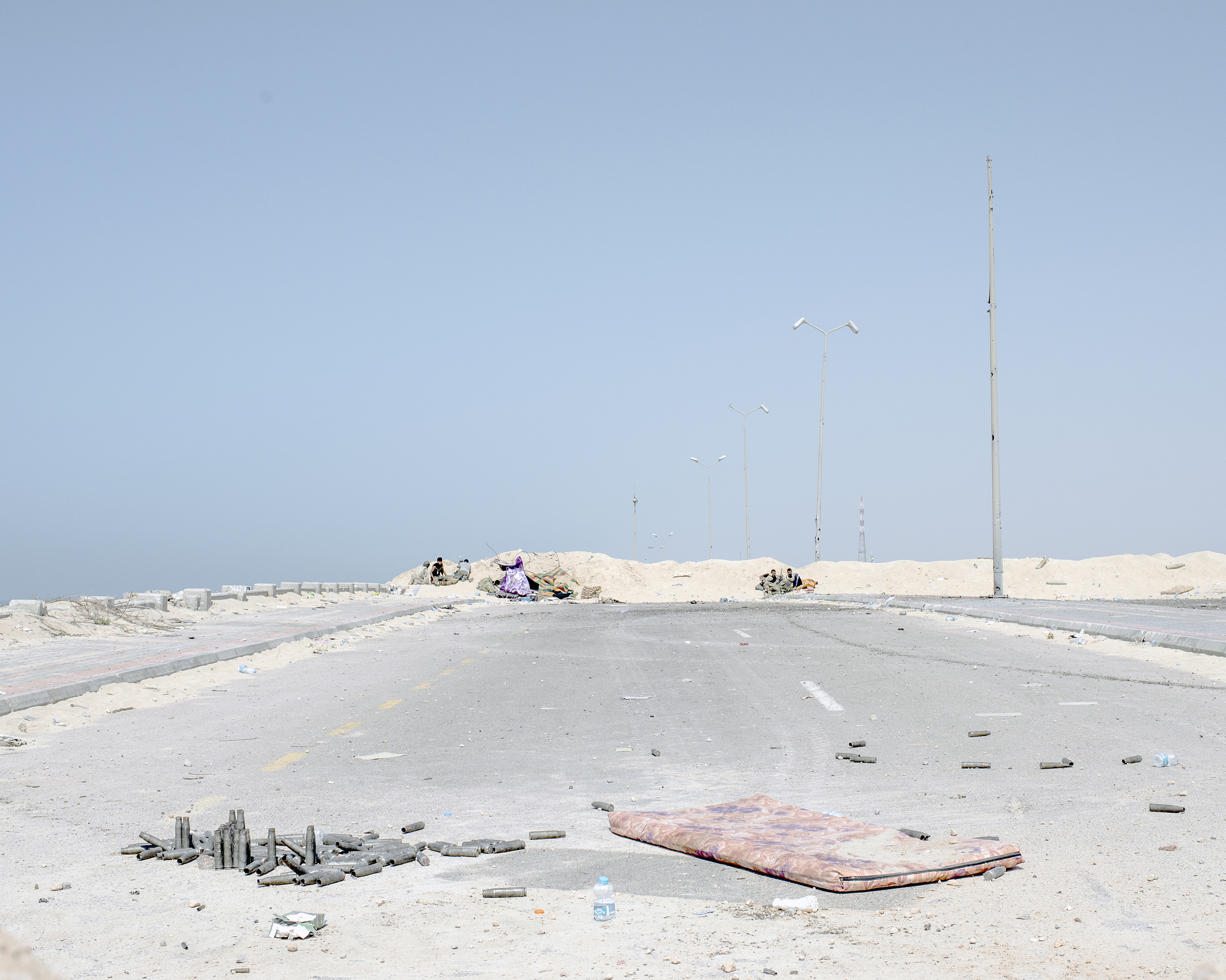 A view of the westernmost frontline against ISIS on the Sirt, Libya, seafront, July 2016.