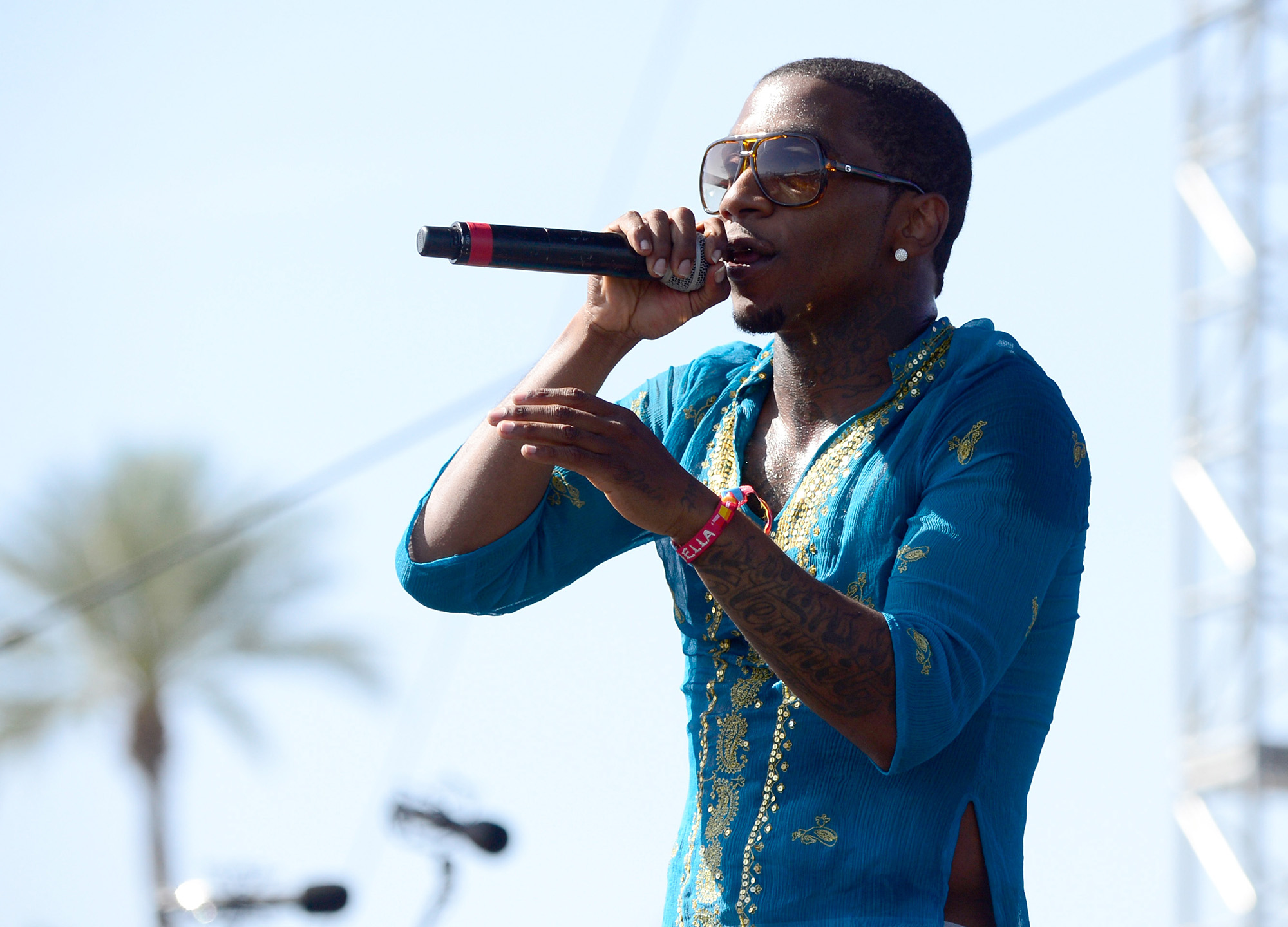 Lil B performs onstage during day 1 of the 2015 Coachella Valley Music & Arts Festival (Weekend 1) at the Empire Polo Club on April 10, 2015 in Indio, California.  (Photo by Frazer Harrison/Getty Images for Coachella)
