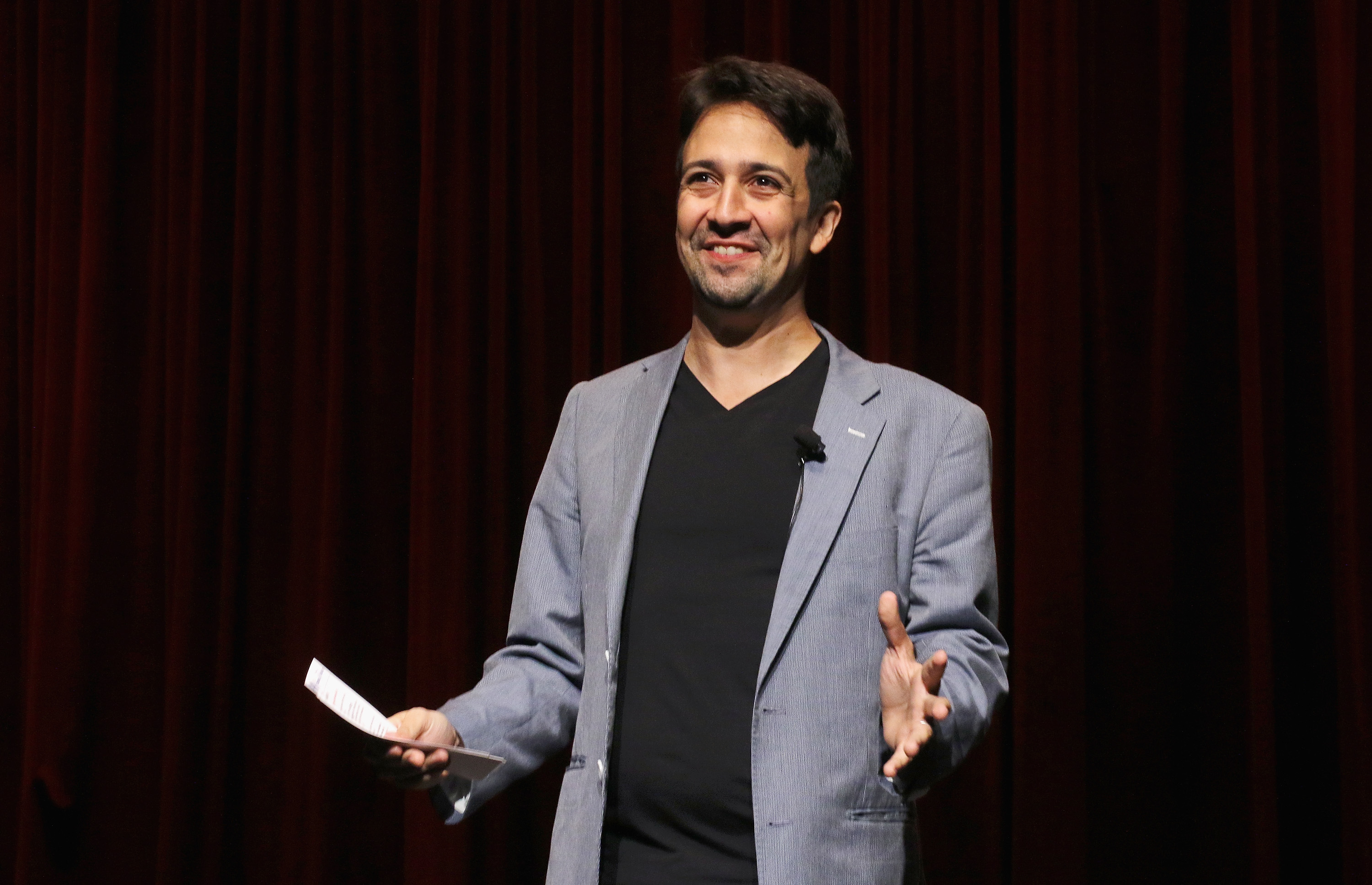 Actor Lin-Manuel Miranda attends the Grease: Live  panel & reception at The Edison Ballroom on August 15, 2016 in New York City.