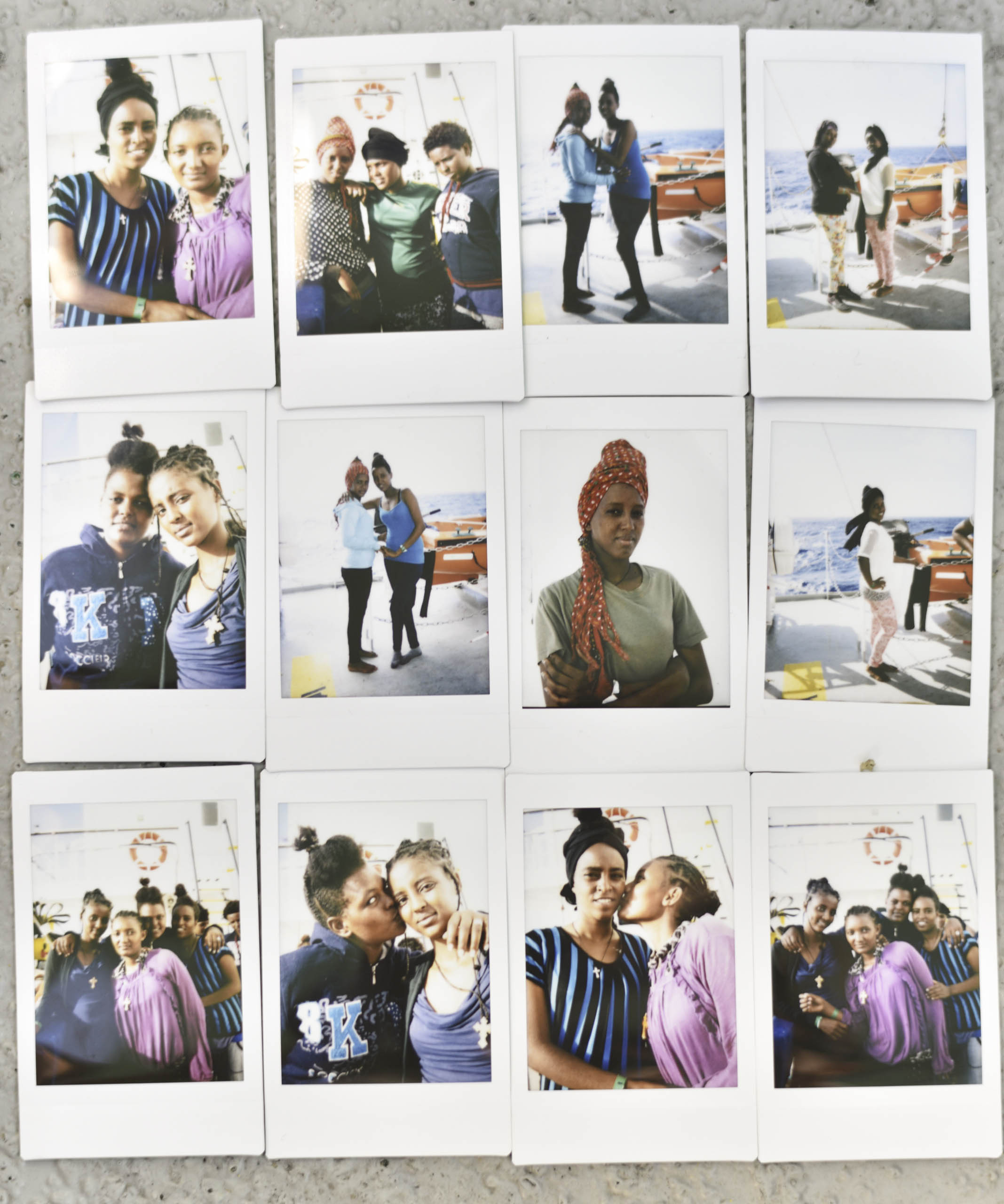 Addario took pictures of the rescued migrants, which she then gave to them.