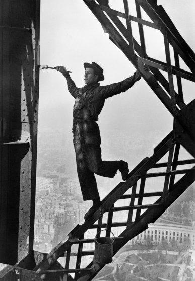 Zazou, the Eiffel Tower's painter, in Paris, 1953.
