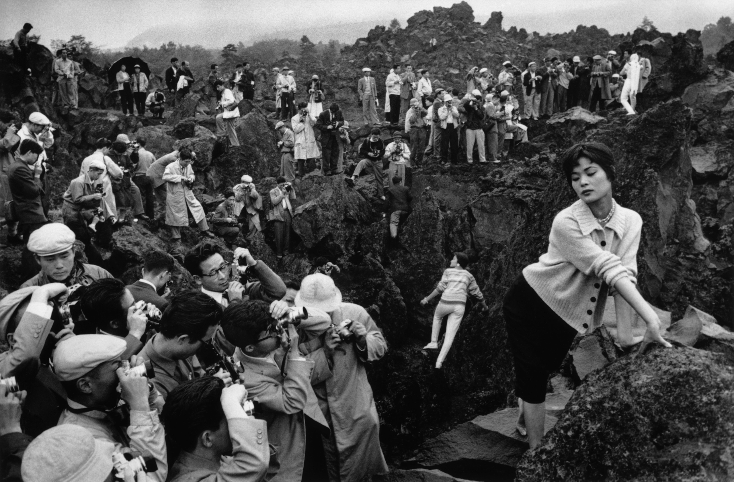 Photographer's rally in Karuizawa, Japan, 1958.