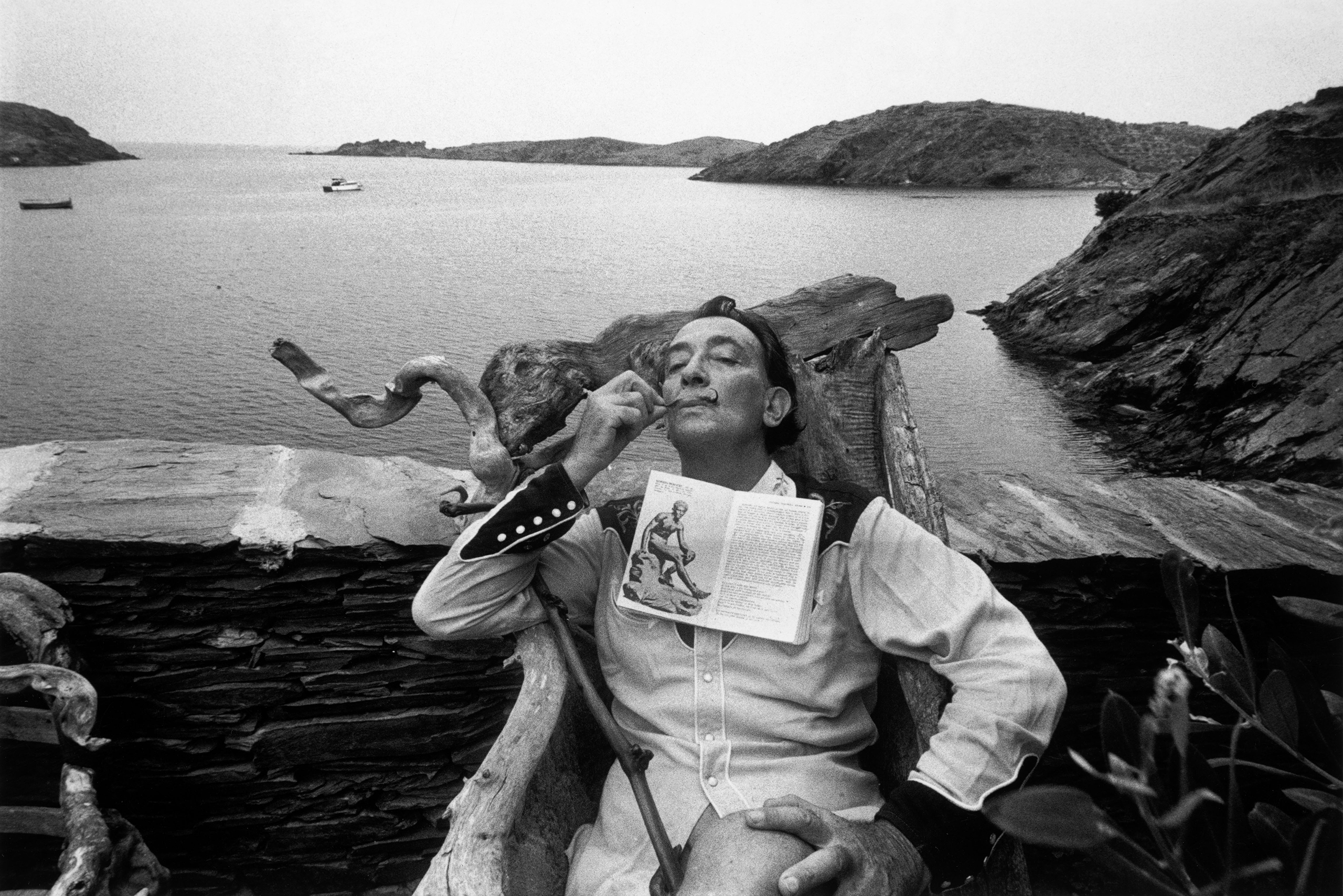 Spanish painter Salvador Dali at his home at Port Lligat, near Cadaques, on the Costa Brava, Spain, 1963.