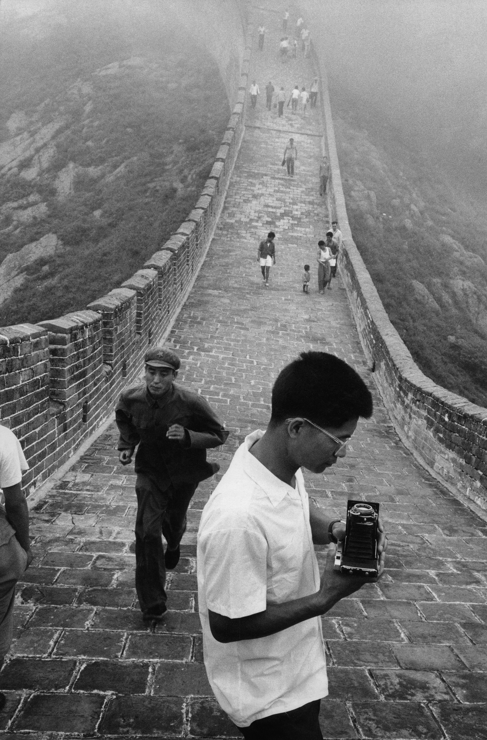 The Great Wall in Hebei Province, China, 1971.
