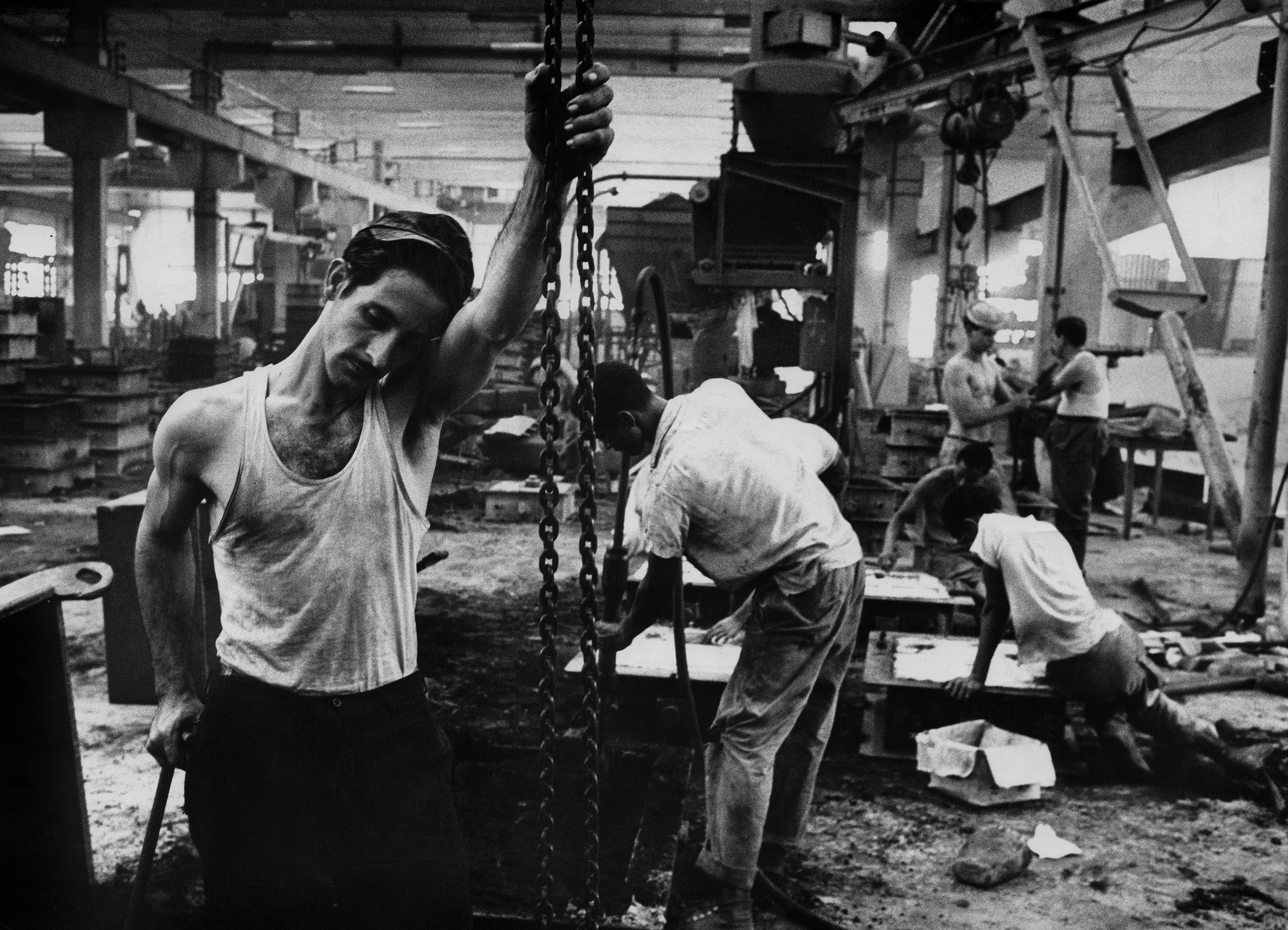 A factory in Cuba, 1963.