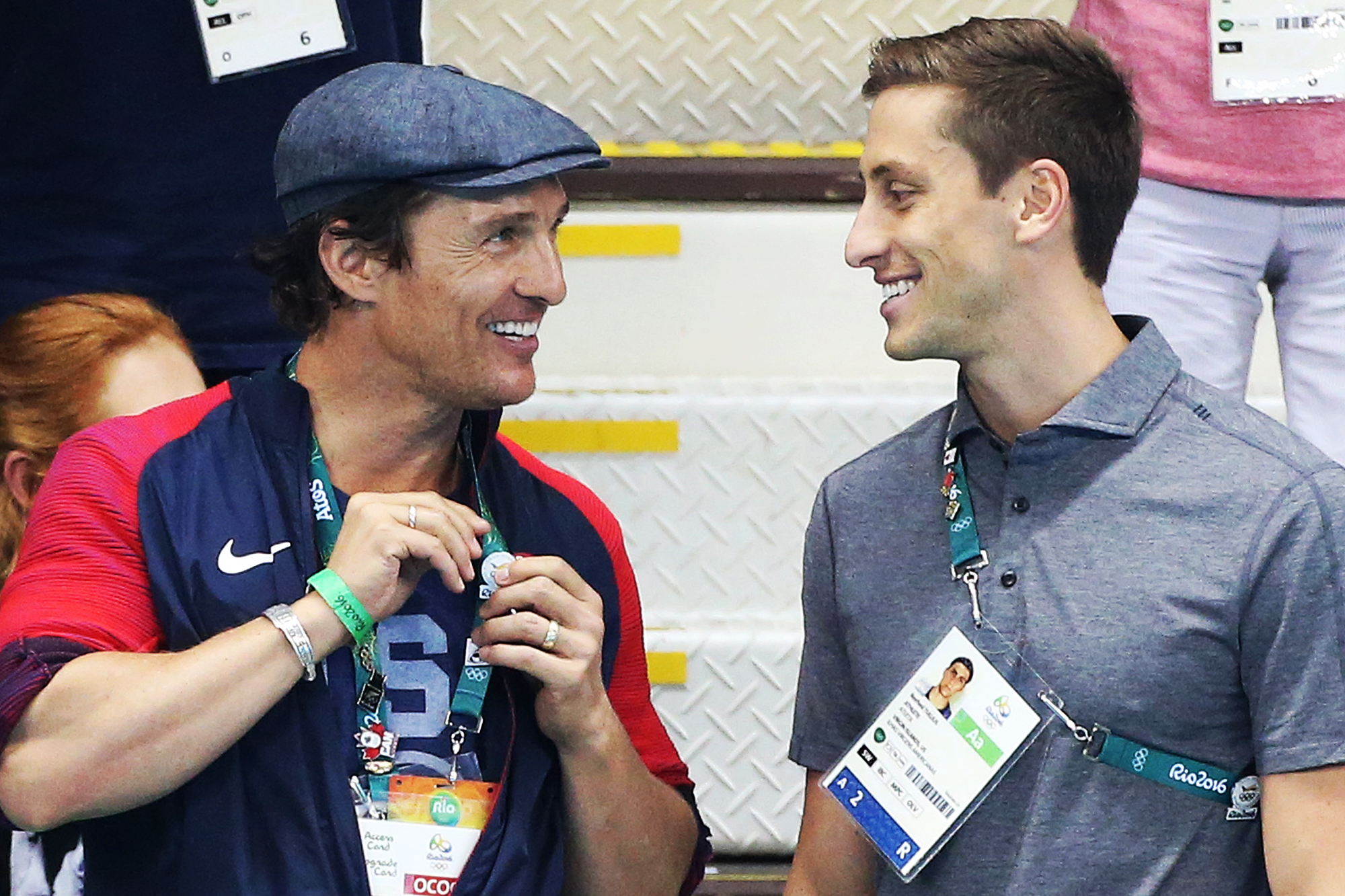 Matthew McConaughey during the swimming finals on day 5 of the Rio 2016 Olympic Games, on Aug.10, 2016 in Rio de Janeiro, Brazil.