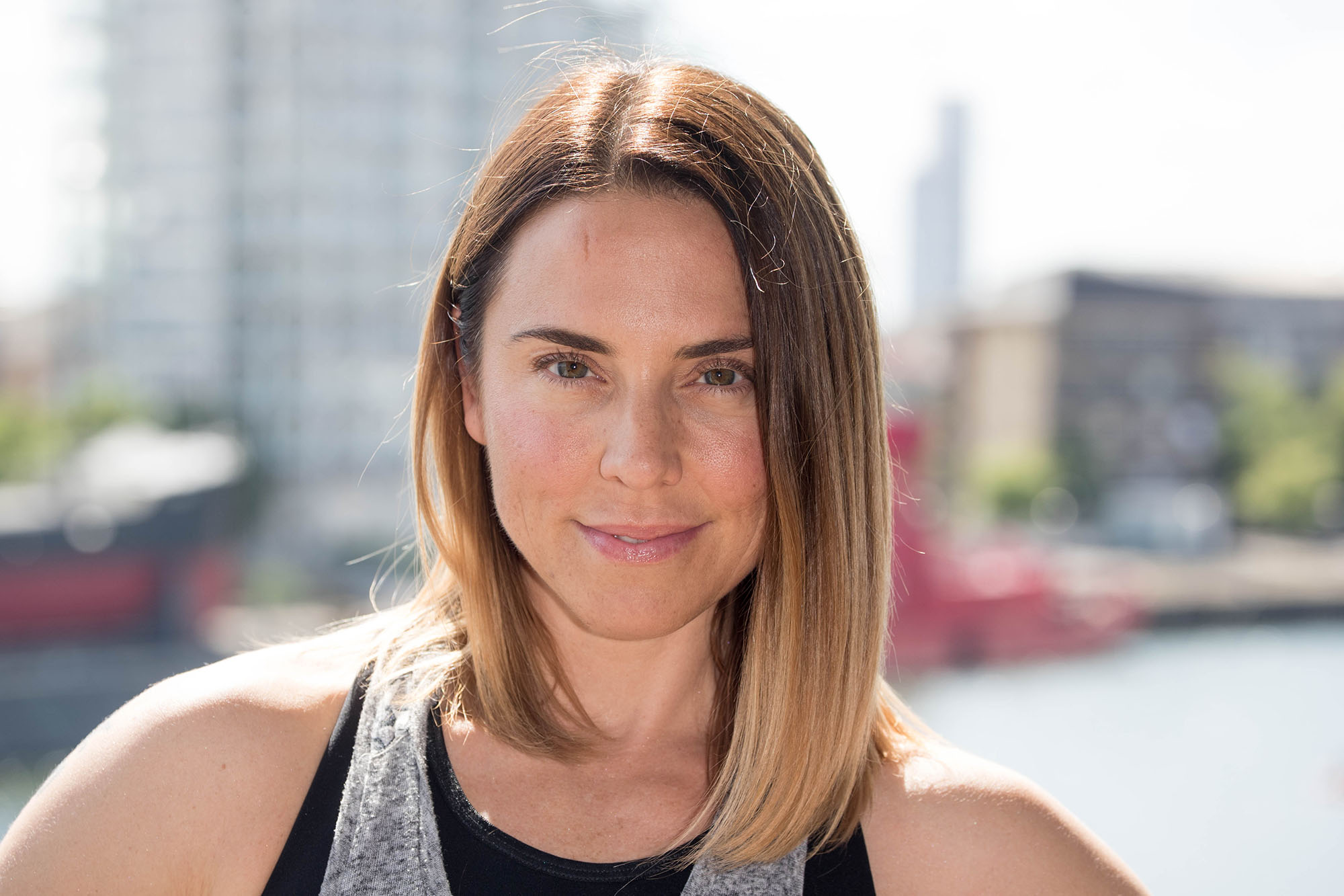 Mel C attends for a Photocall before The London Triathlon at ExCel on August 6, 2016 in London, England. (Photo by Luca Teuchmann/Getty Images)