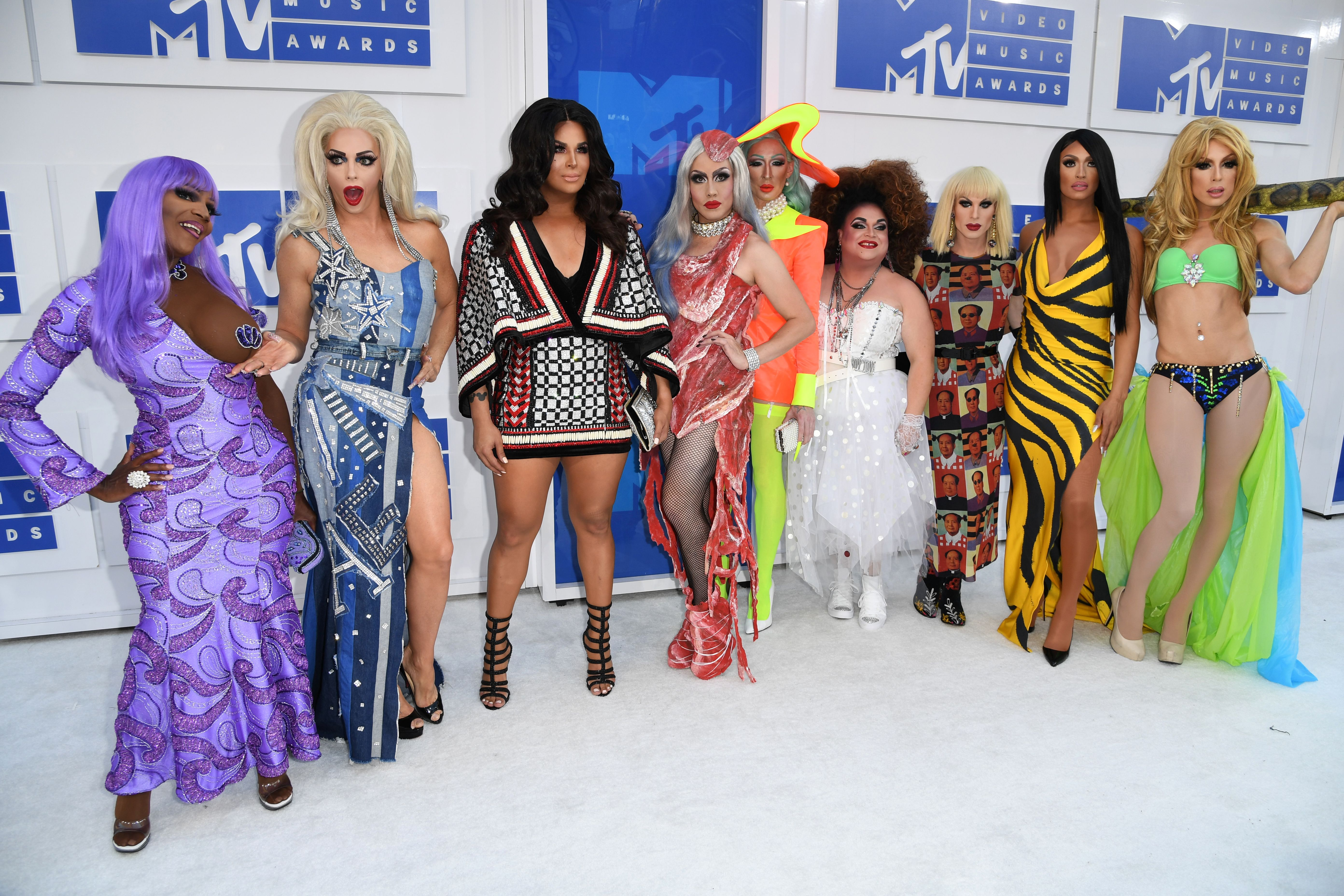 Rupaul's Drag Race All Stars attend the 2016 MTV Video Music Awards at Madison Square Garden on Aug. 28, 2016 in New York City.