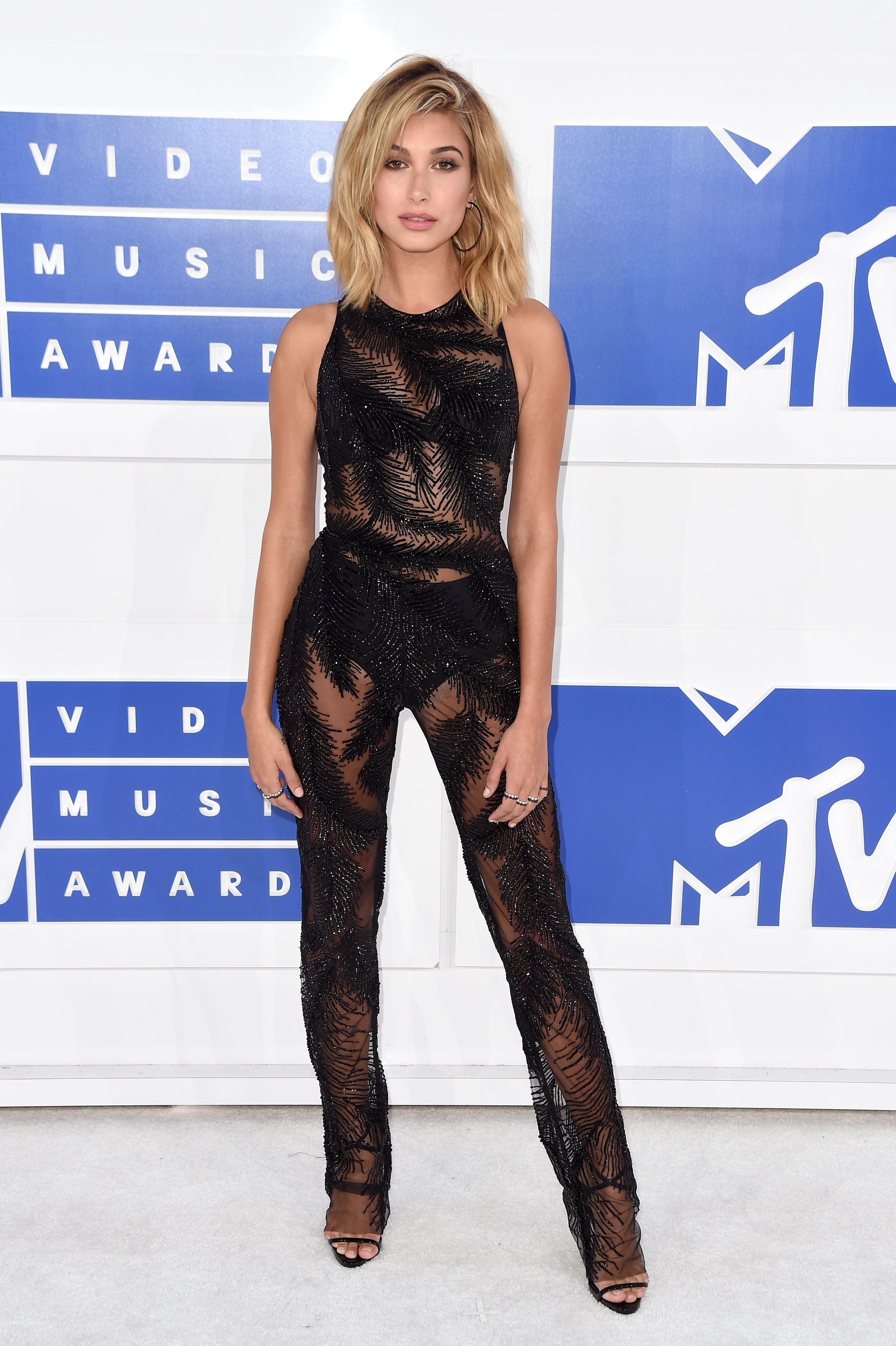 Hailey Baldwin attends the 2016 MTV Video Music Awards at Madison Square Garden on Aug. 28, 2016 in New York City.