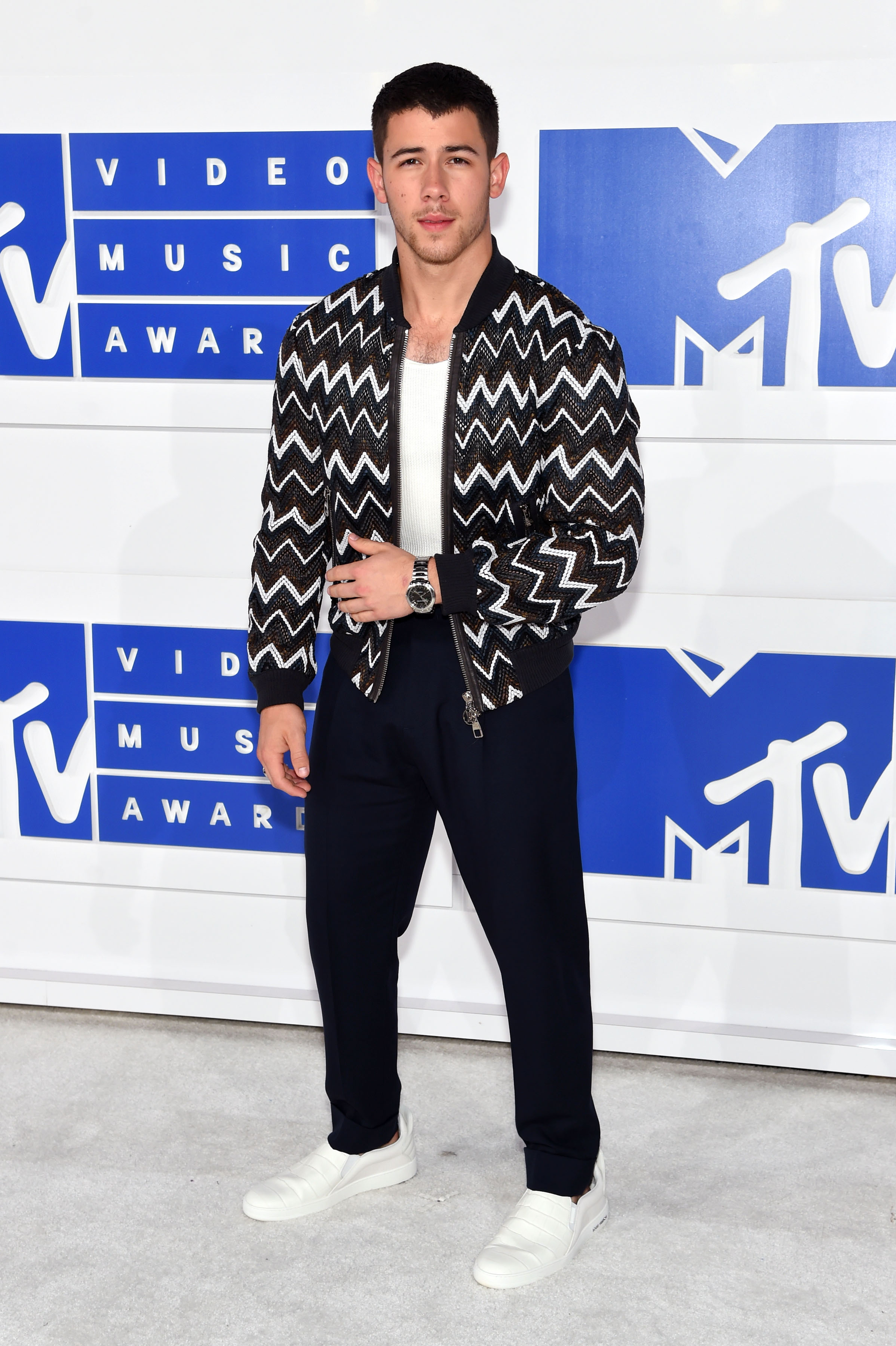 Nick Jonas attends the 2016 MTV Video Music Awards at Madison Square Garden on Aug. 28, 2016 in New York City.
