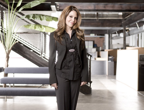 Nely Galán, 52, stands in the office of Galan Entertainment, a TV production company.  She is the founder of Galan Entertainment and the Adelante Movement, which aims to empower and provide resources to Latina entrepreneurs.