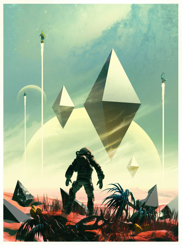 EXCLUSIVE ART: No Man's Sky's visuals evoke 20th century pulp sci-fi's heady vibe and dare-to-explore optimism