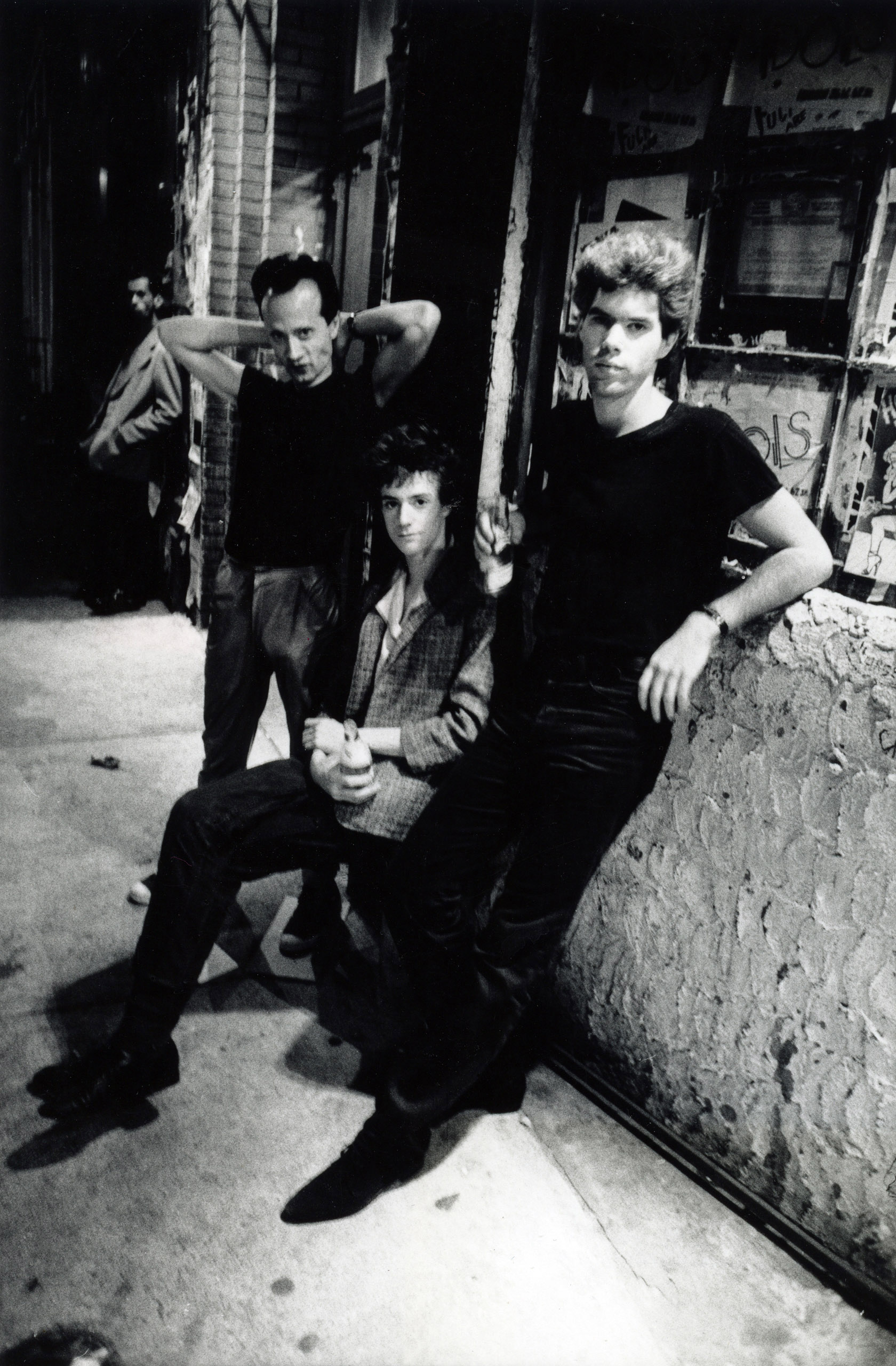 Klaus Nomi, Christopher Parker, and Jim Jarmusch, Bowery, 1978.