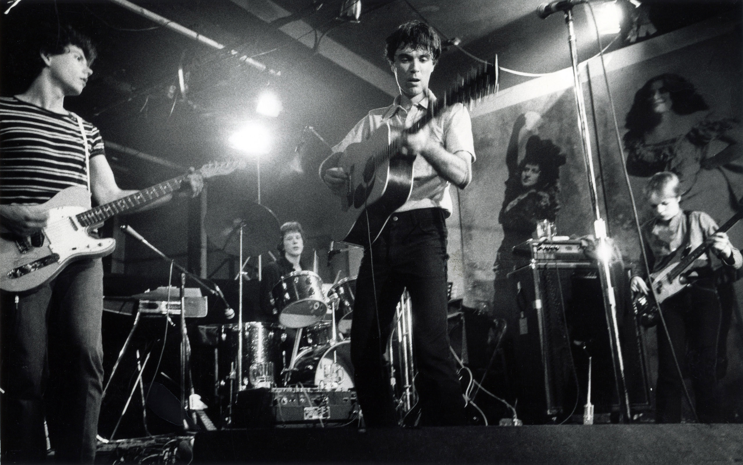 Talking Heads, CBGB, 1977.