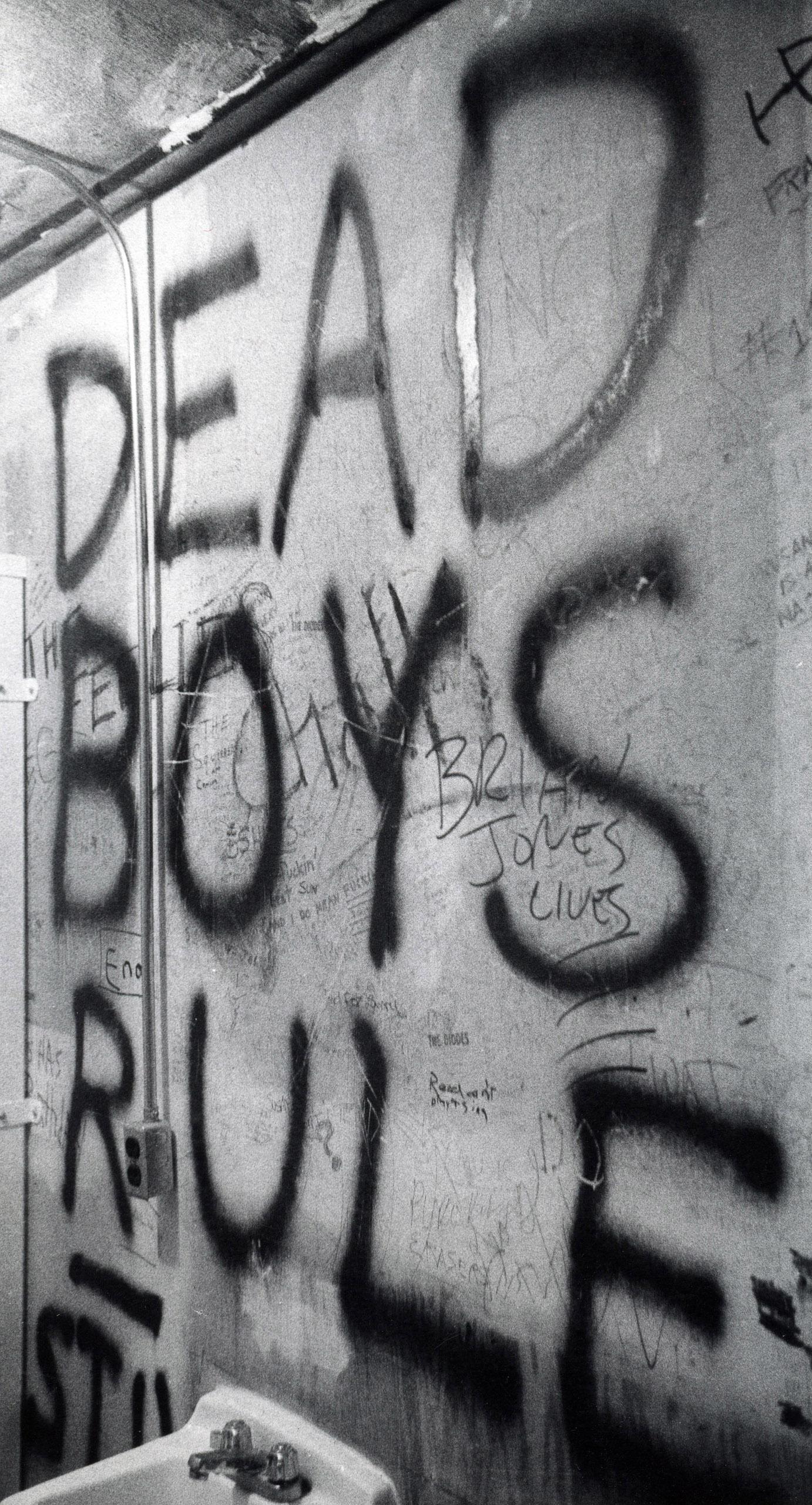 CBGB bathroom, 1977.