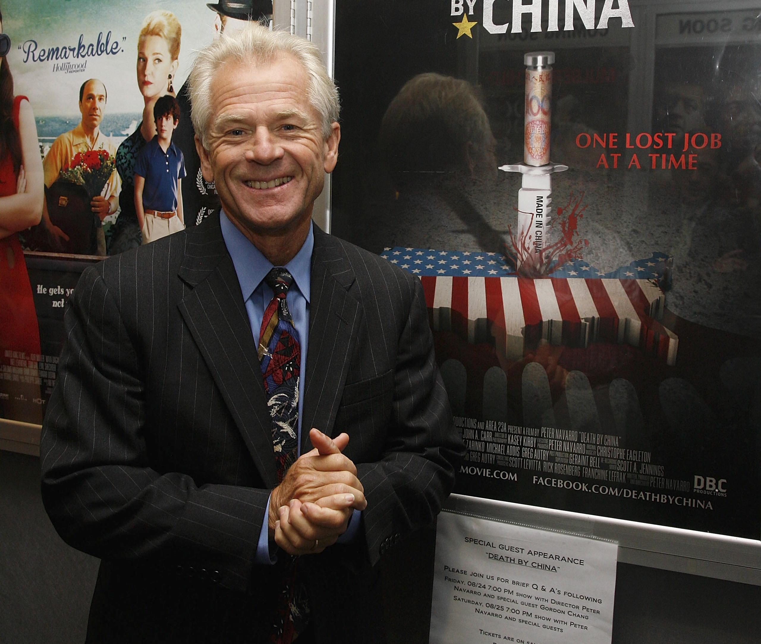 Director Peter Navarro attends the  Death By China  screening at the Quad Cinema in New York City on Aug. 24, 2012.