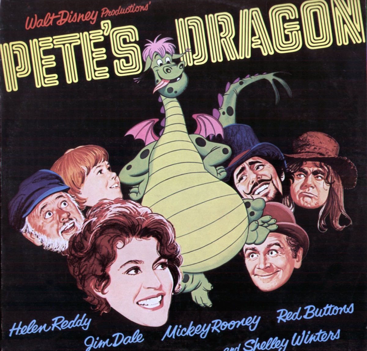 The Pete's Dragon poster from 1977