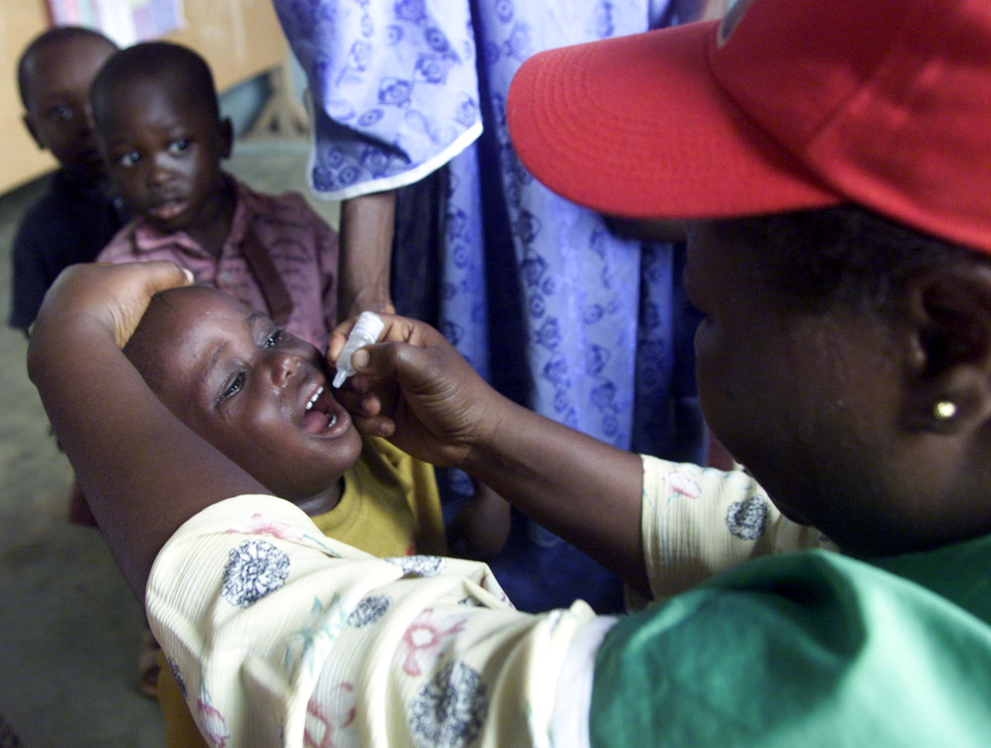 Nigeria has announced an emergency mass polio vaccination campaign after two children have been paralysed by the disease in Borno state (file photo)