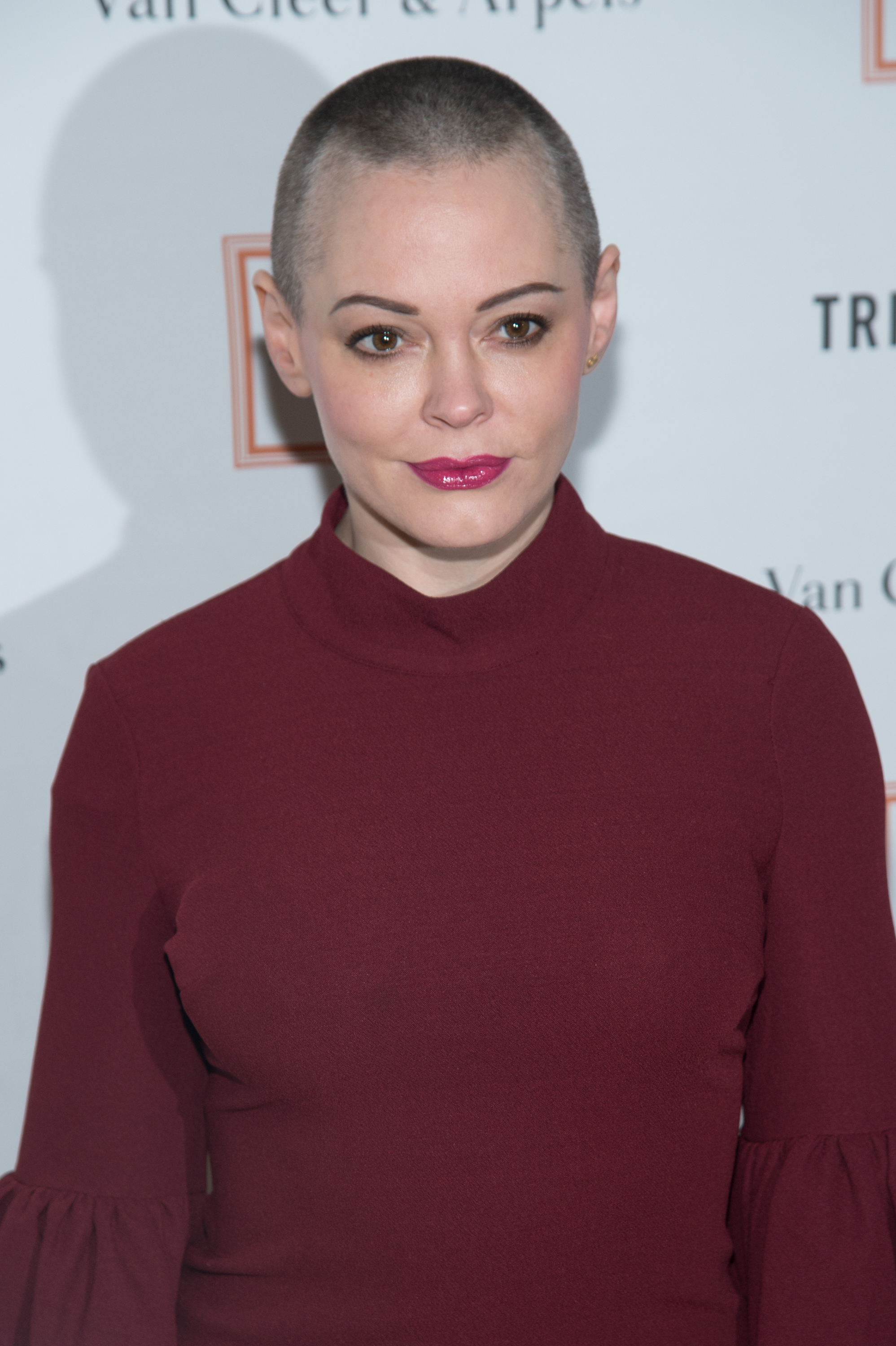 Actress Rose McGowan attends the New York Academy of Art's Tribeca Ball 2016 at the NY Academy of Art in New York City on April 4, 2016.