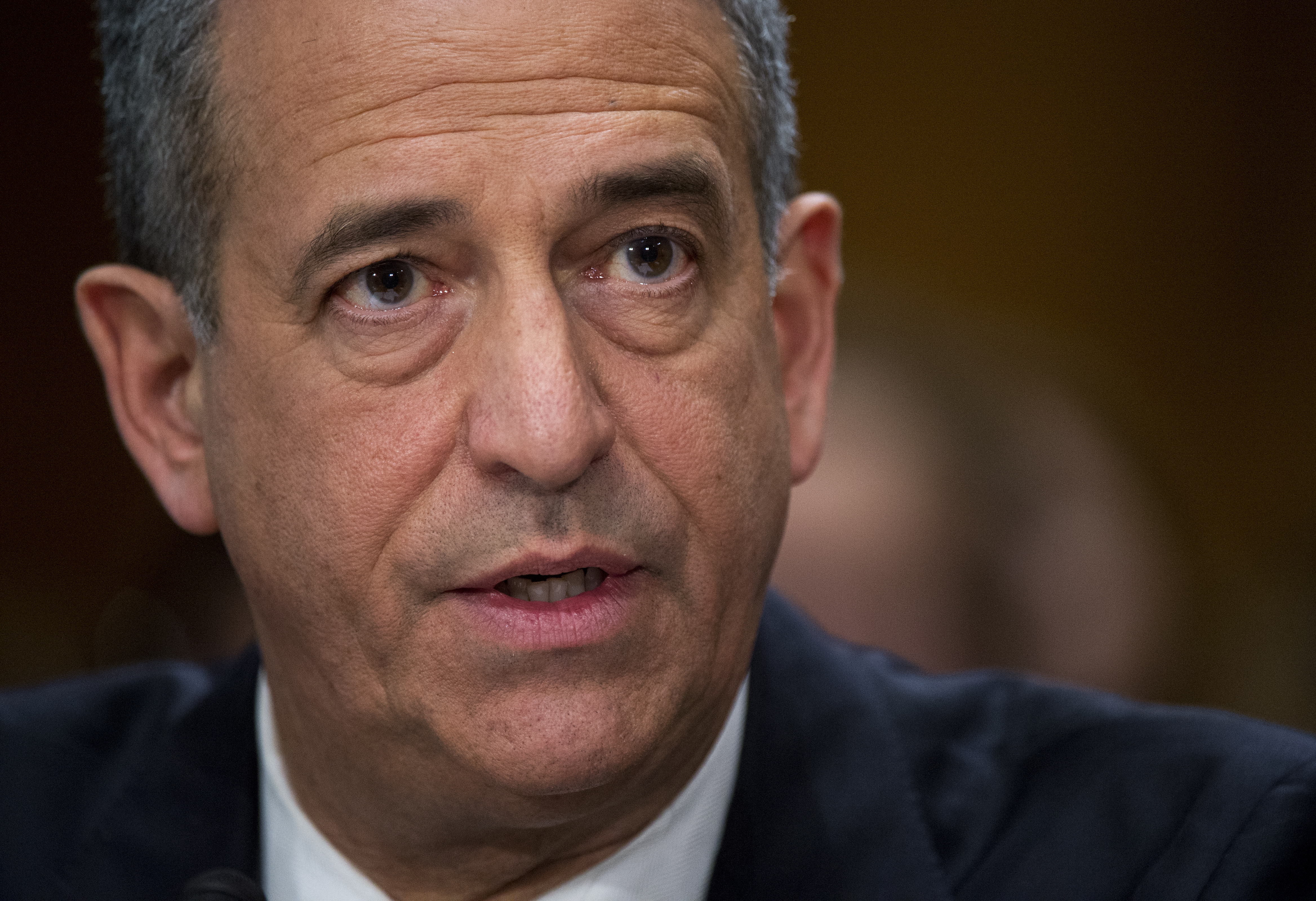 Russ Feingold testifies before a Senate Foreign Relations Committee hearing, on Feb. 26, 2016.